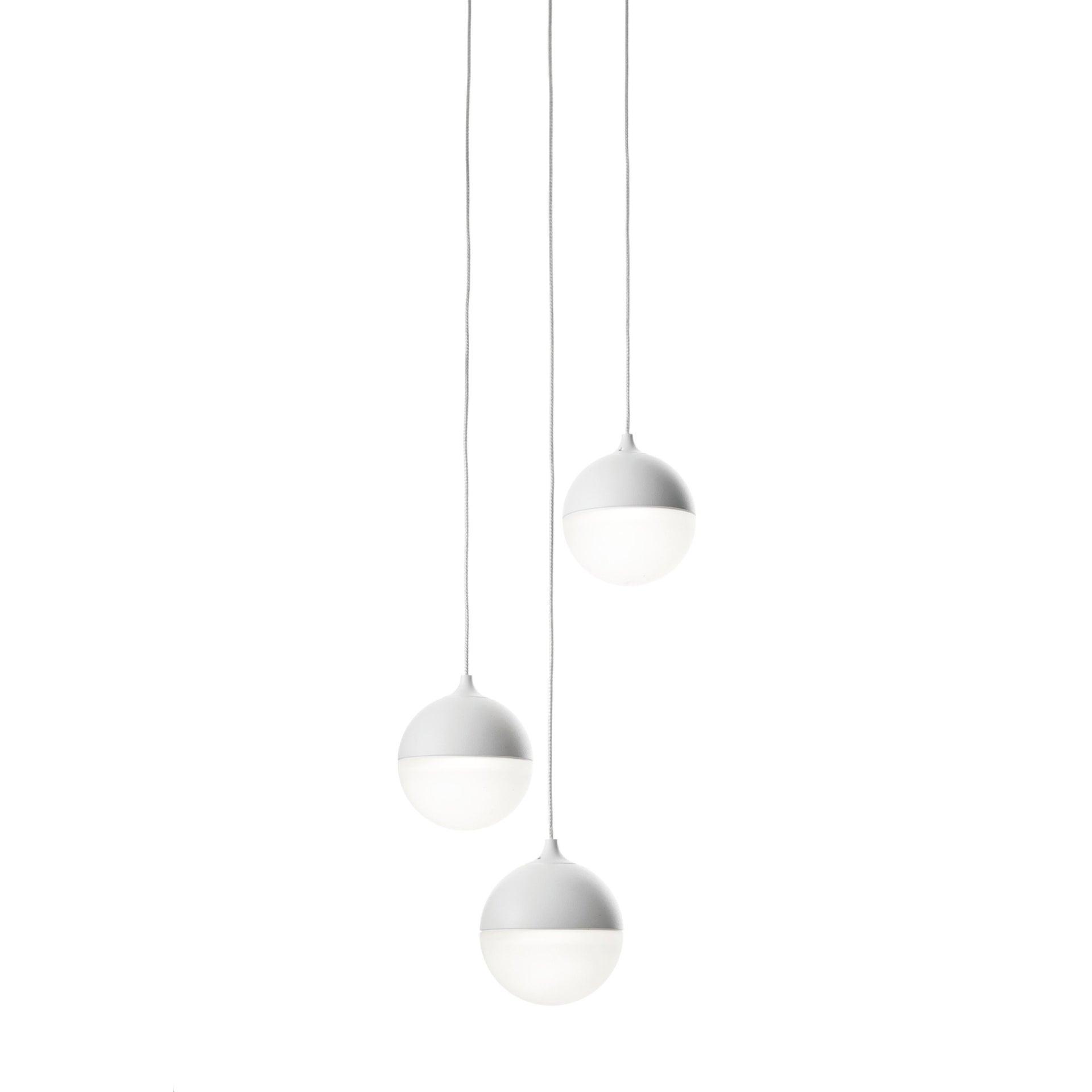 Lampadario Design Sky fall LED integrato bianco, in alluminio, L. 212 cm - 1