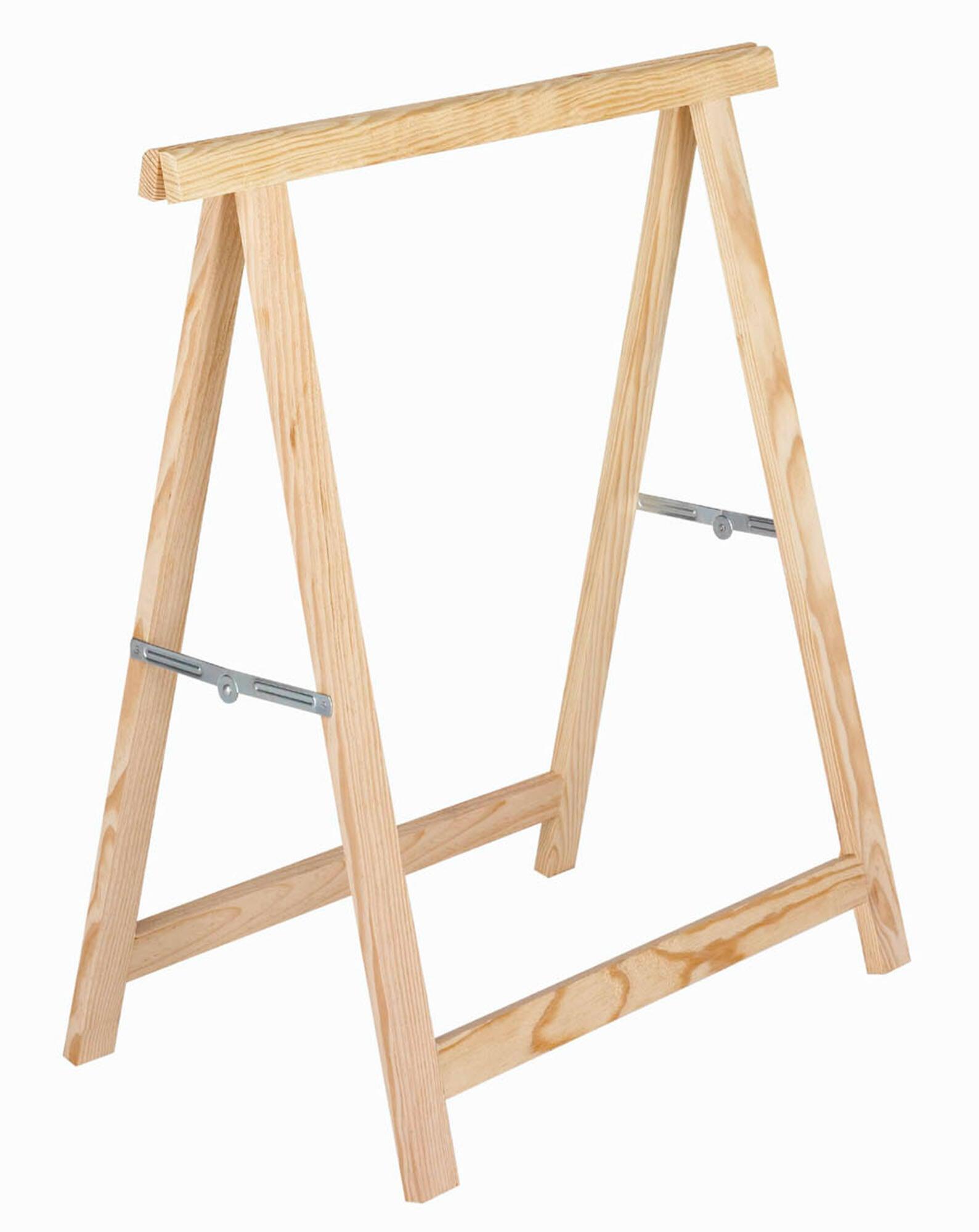 Cavalletto in pino Standard L 73.5 x P 73.5 x H 74 cm legno naturale - 5