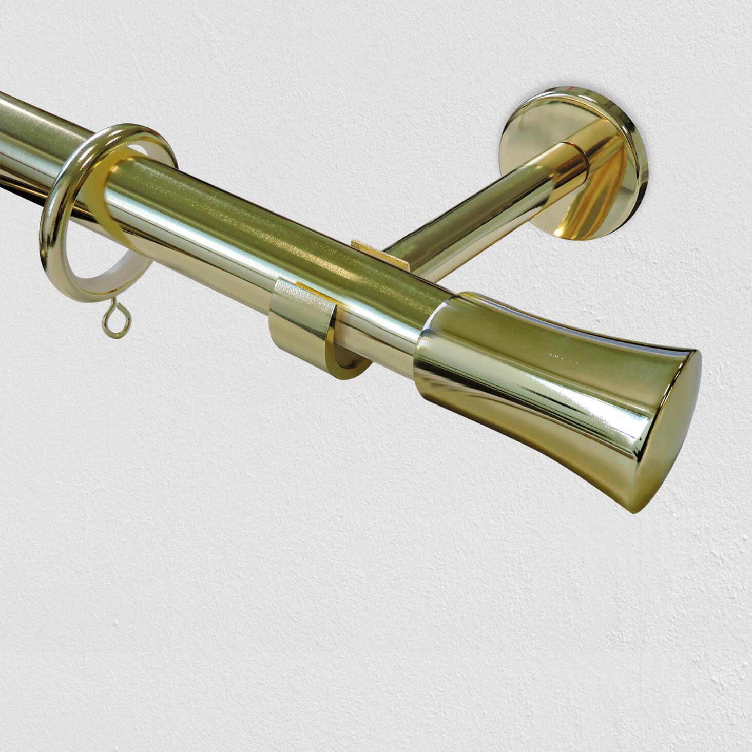 Supporto singolo aperto estensibile Ø28mm Agra EASY FIX in metallo ottone lucido 14cm INSPIRE - 2