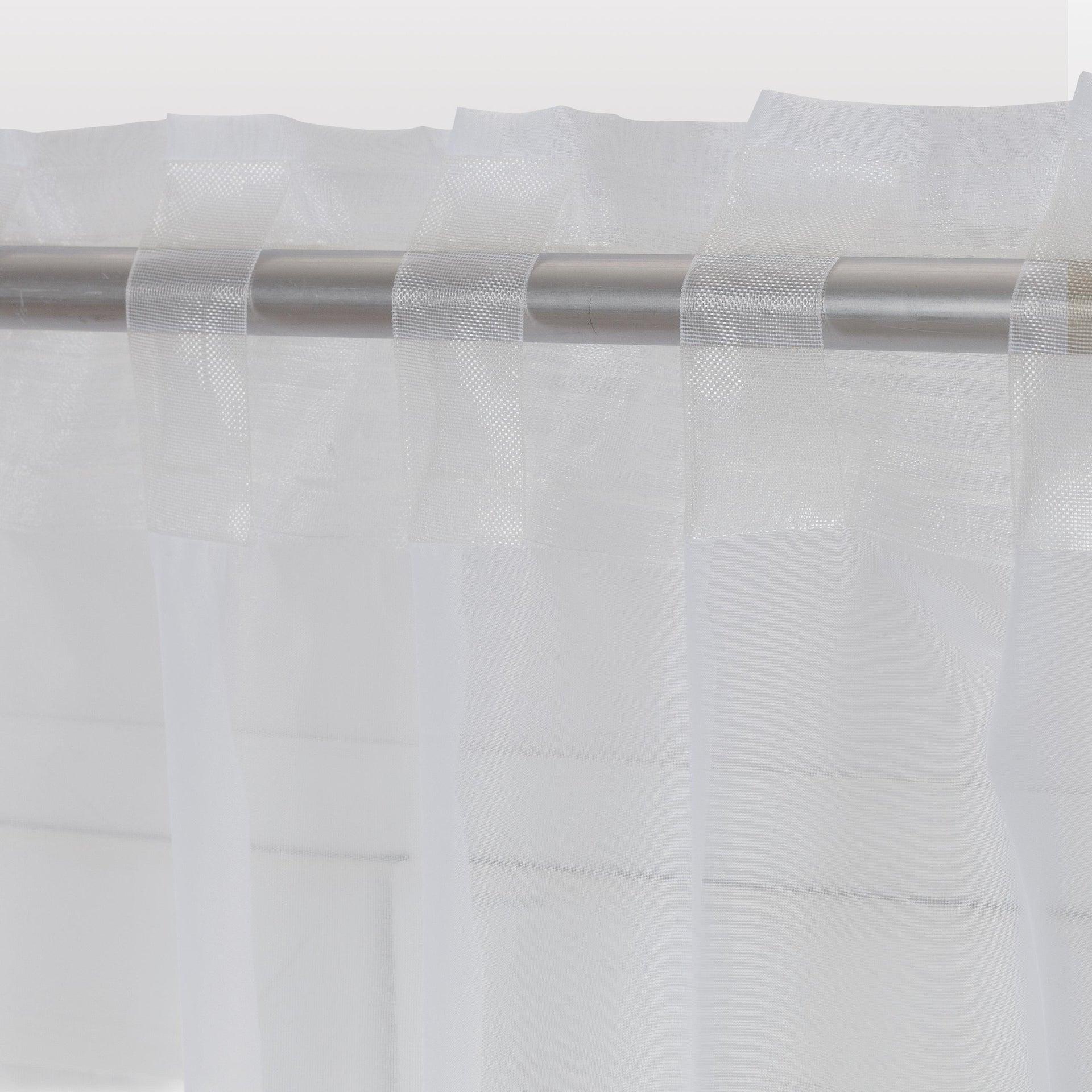 Tenda INSPIRE Lolly bianco fettuccia e passanti 140 x 280 cm - 4
