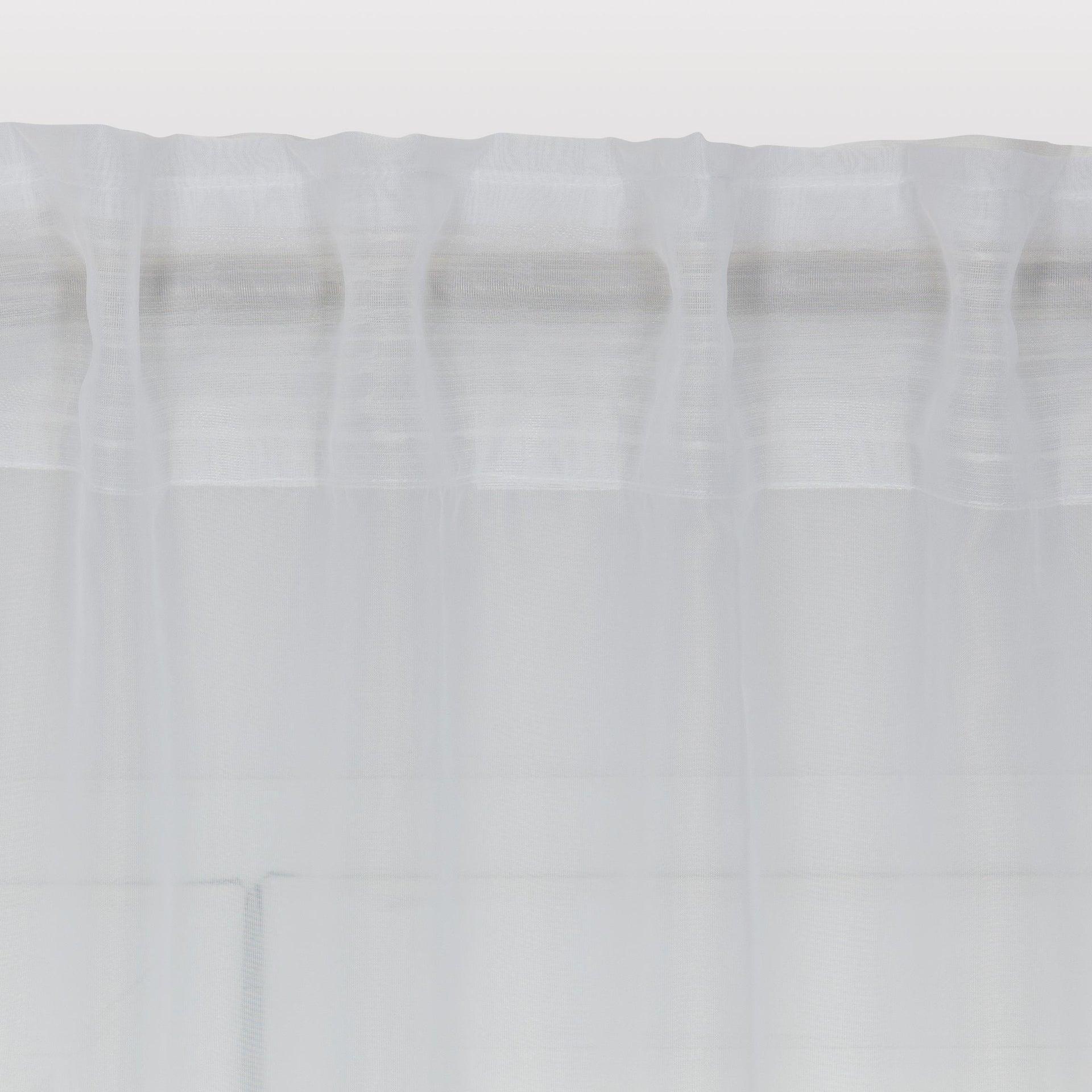 Tenda INSPIRE Lolly bianco fettuccia e passanti 140 x 280 cm - 3