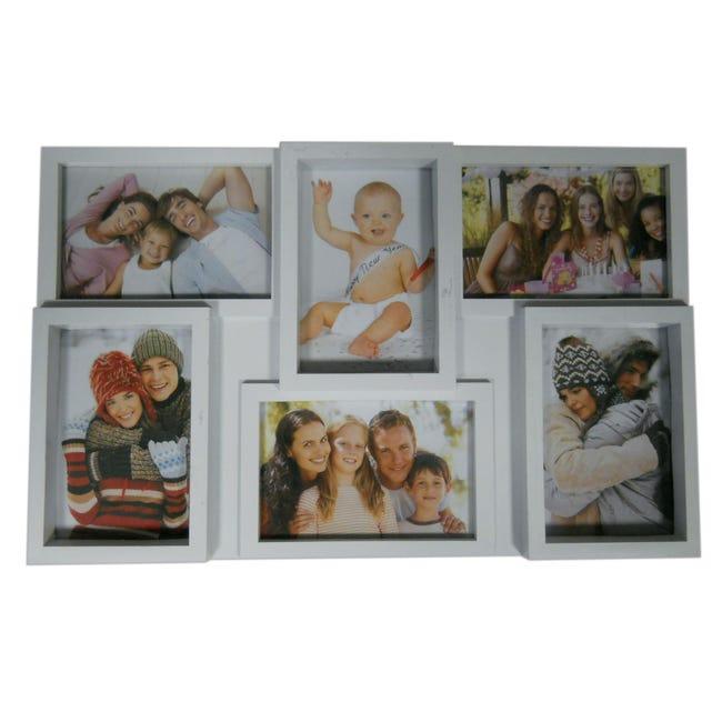 Cornice Easy6 per 6 fotografie 10 x 15 bianco - 1