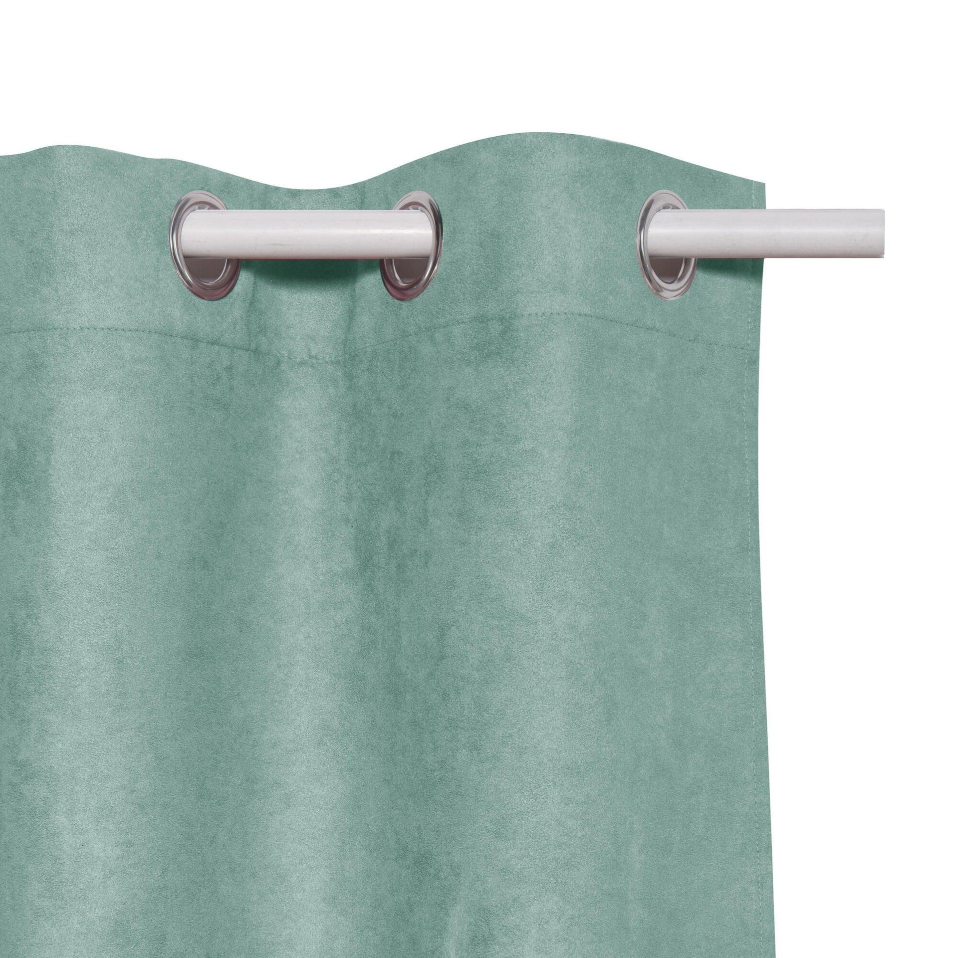 Tenda INSPIRE New Manchester verde occhielli 140 x 280 cm - 9