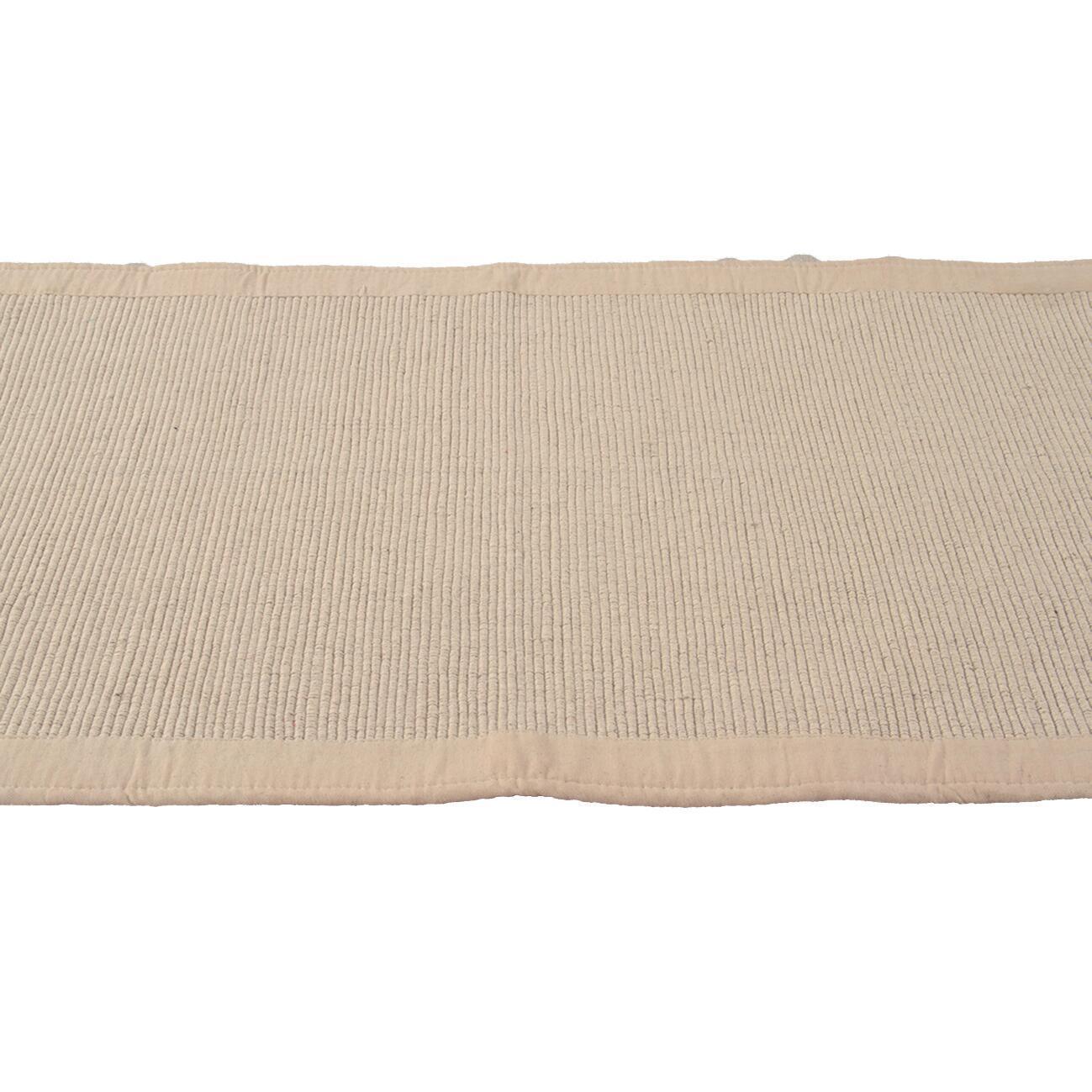 Passatoia Nevra in cotone, avorio, 50x110 - 2