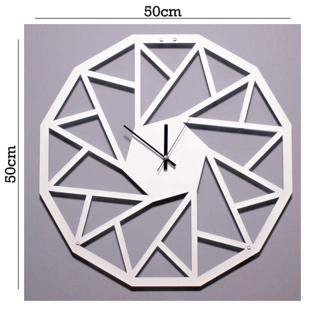 Decorazione Da Parete Geometrico Bianco 50x50 Cm Leroy Merlin