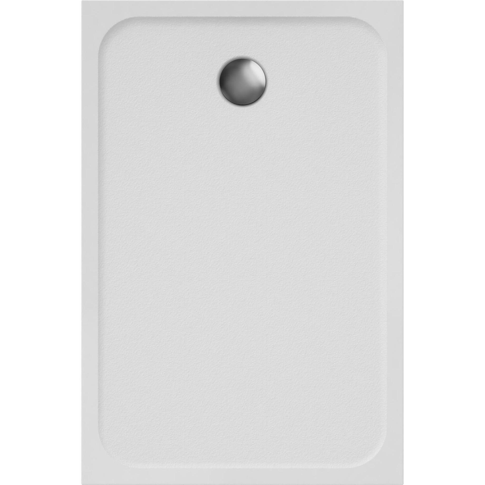Piatto doccia resina sintetica e polvere di marmo Easy 80 x 120 cm bianco - 2