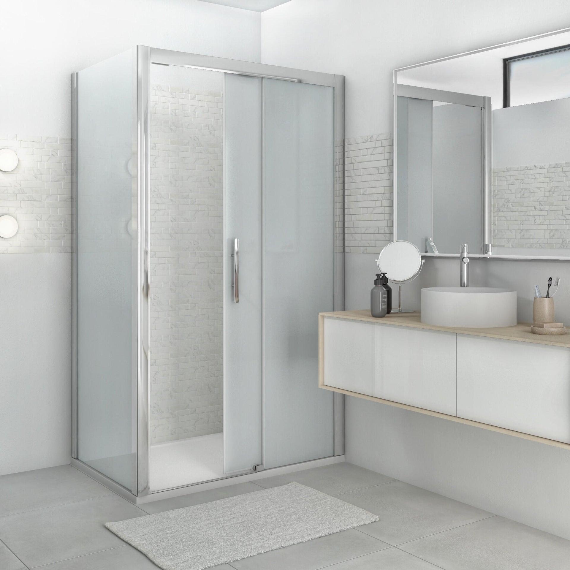 Piatto doccia resina sintetica e polvere di marmo Easy 80 x 120 cm bianco - 5