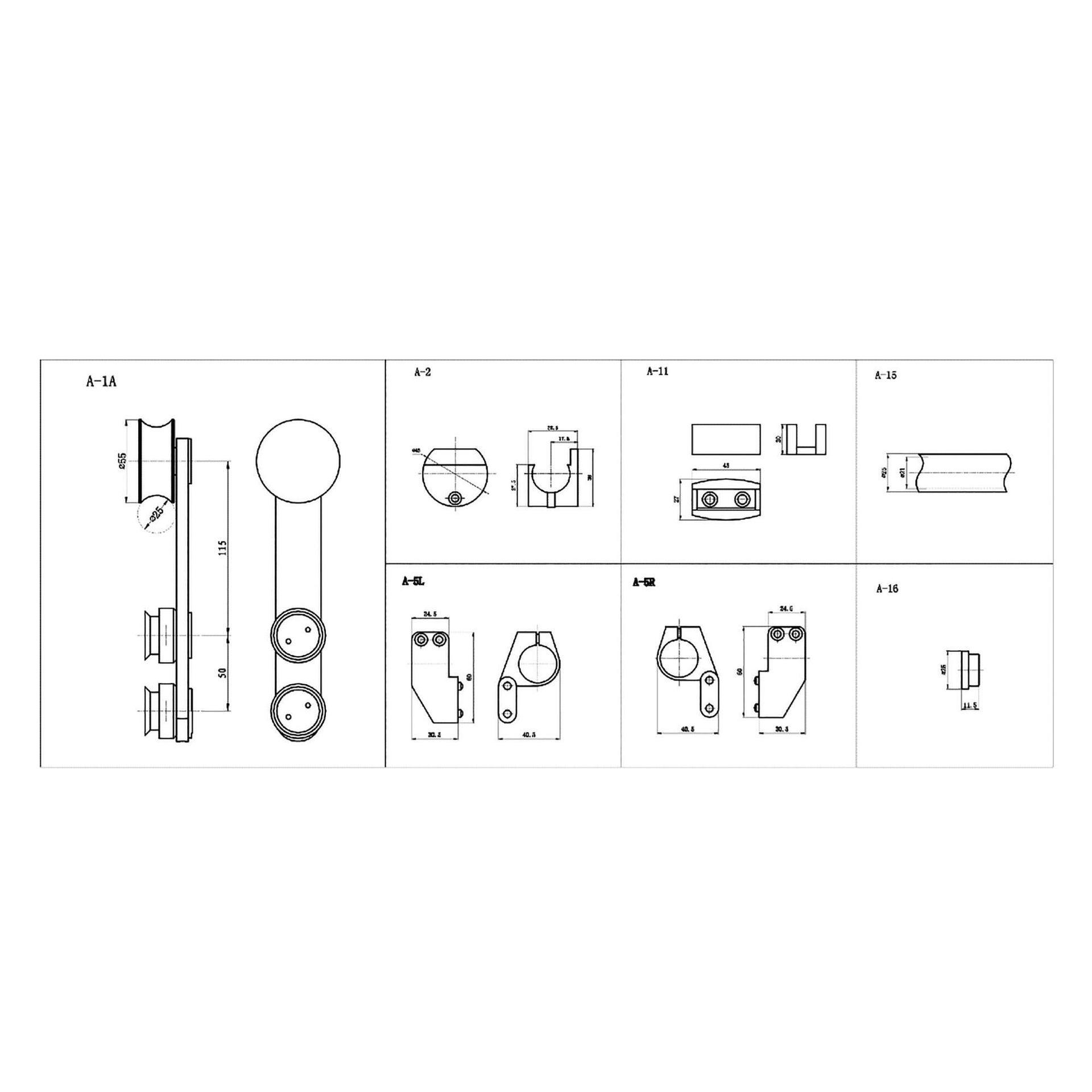 Binario per porta scorrevole Lux grigio L 2 m - 5