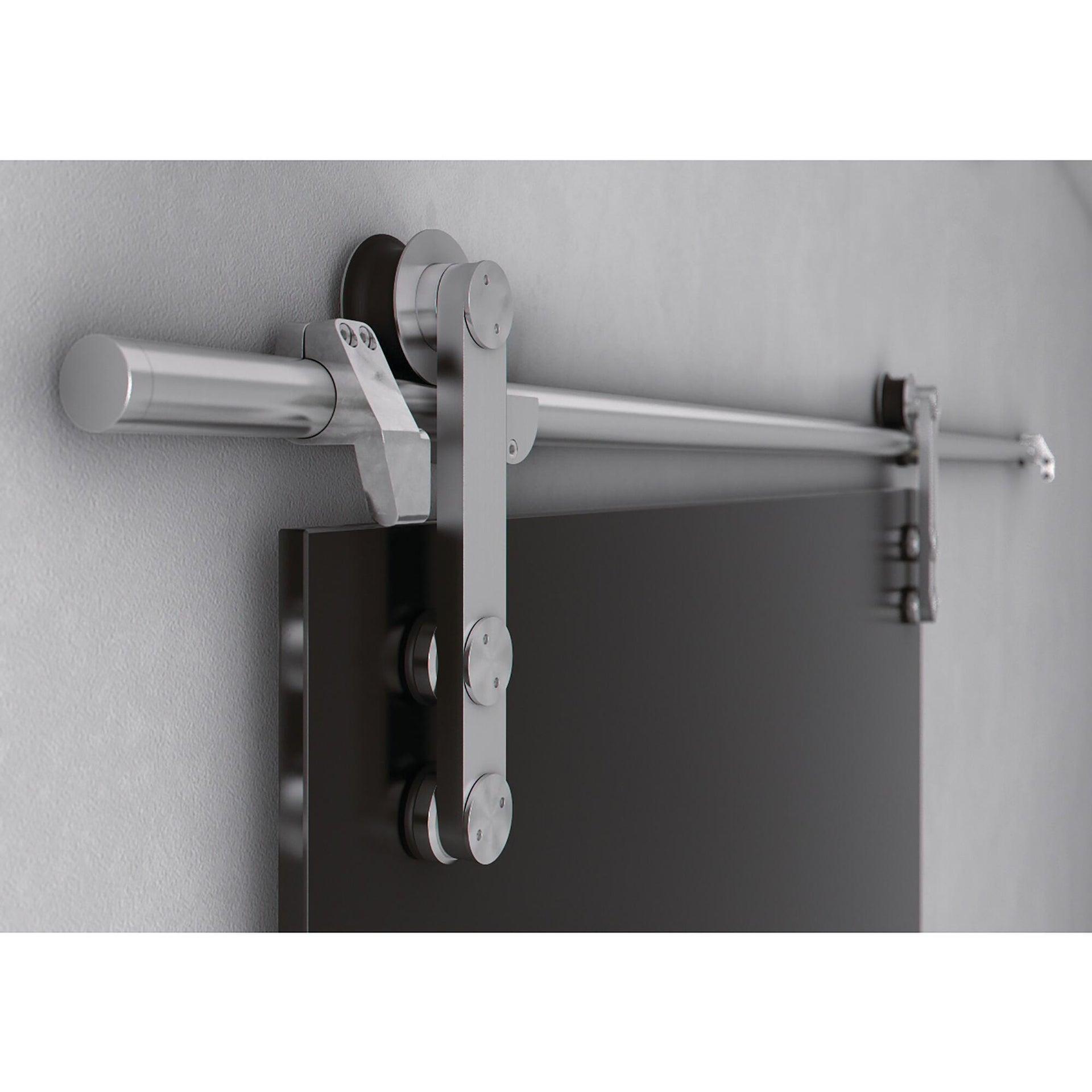 Binario per porta scorrevole Lux grigio L 2 m - 1