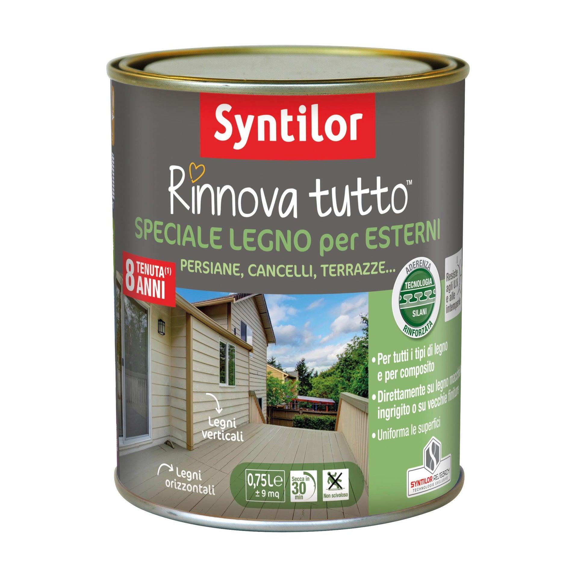 Smalto per legno da esterno base acqua SYNTILOR Rinnova Tutto grigio chiaro 0.75 L - 2