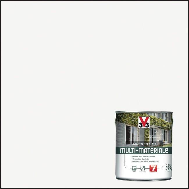 Smalto V33 base solvente bianco ral 9016 0.5 L - 1