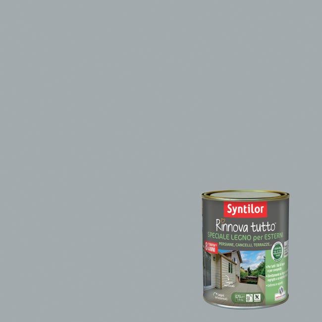 Smalto per legno da esterno base acqua SYNTILOR Rinnova Tutto grigio chiaro 0.75 L - 1