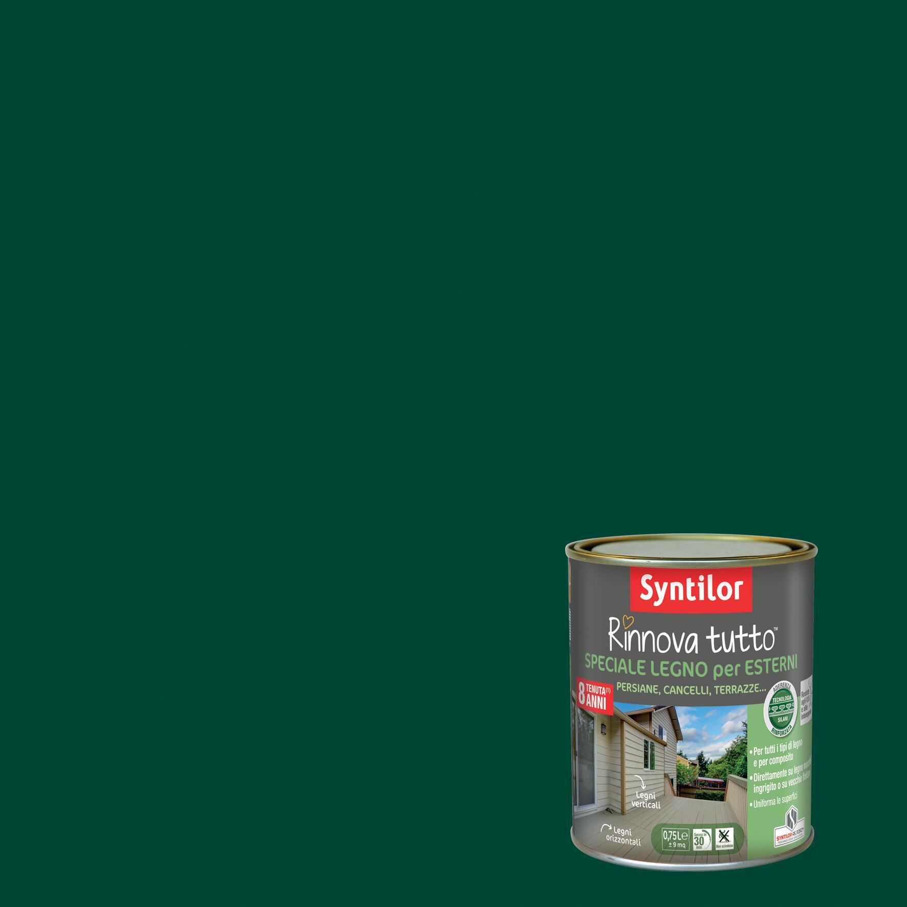 Smalto per legno da esterno base acqua SYNTILOR Rinnova Tutto verde 0.75 L - 1