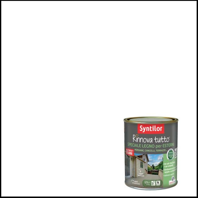 Smalto per legno da esterno base acqua SYNTILOR Rinnova Tutto bianco 2.5 L - 1