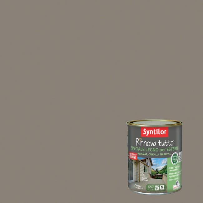 Smalto per legno da esterno base acqua SYNTILOR Rinnova Tutto marrone corteccia 2.5 L - 1