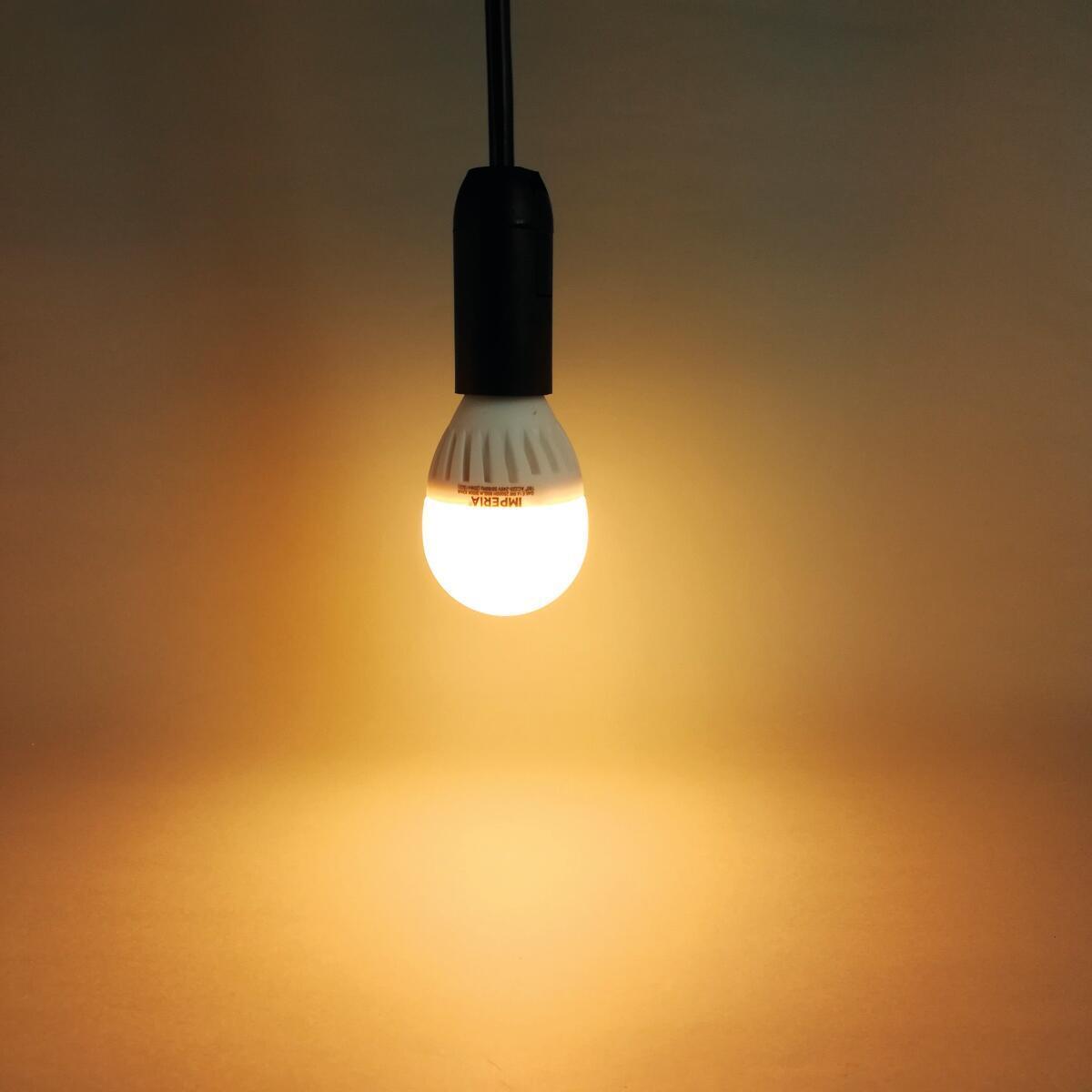 Lampadina LED, E14, Sferico, Opaco, Luce calda, 9W=900LM (equiv 66 W), 200° , IMPERIA - 6