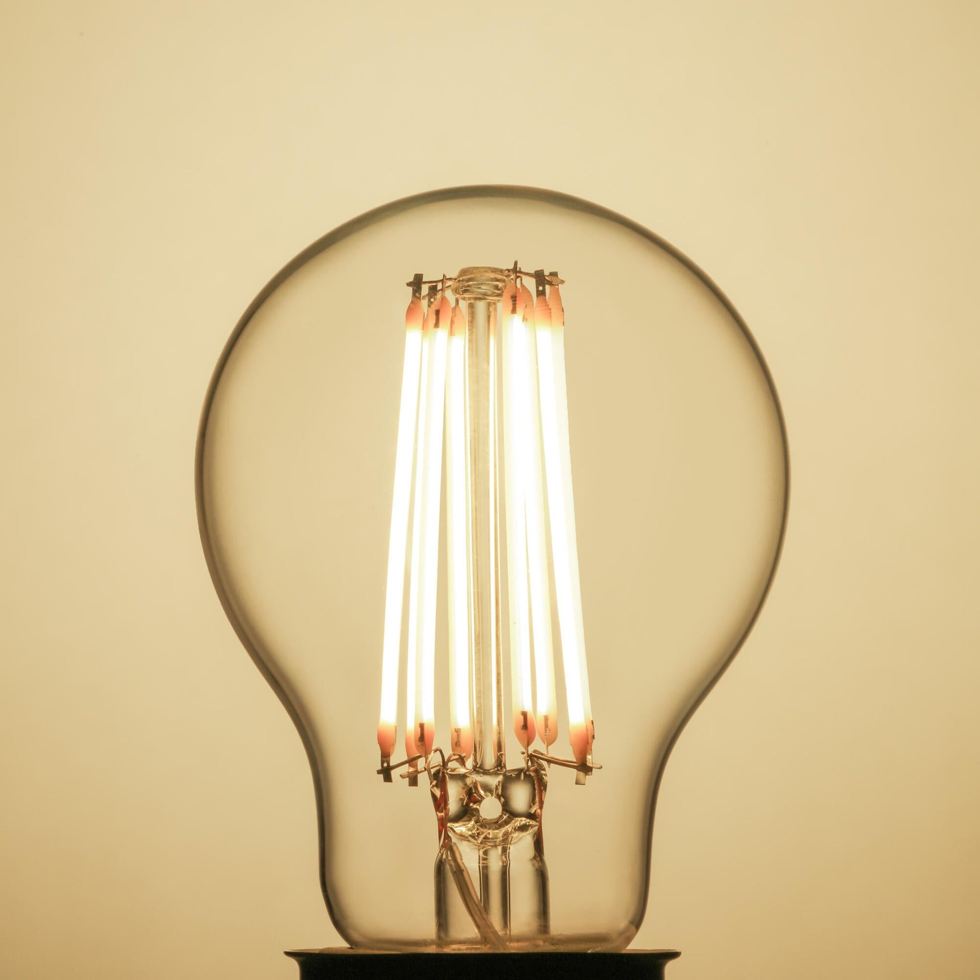 Set di 3 lampadine LED filamento, E27, Goccia, Trasparente, Luce naturale, 12W=1521LM (equiv 100 W), 360° , LEXMAN - 3