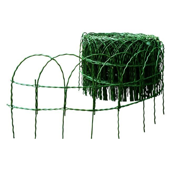 Bordura in rotolo in acciaio galvanizzato verde ral 6005 Ornaplast L 1000 x H 40 cm Sp 0.34 cm - 1