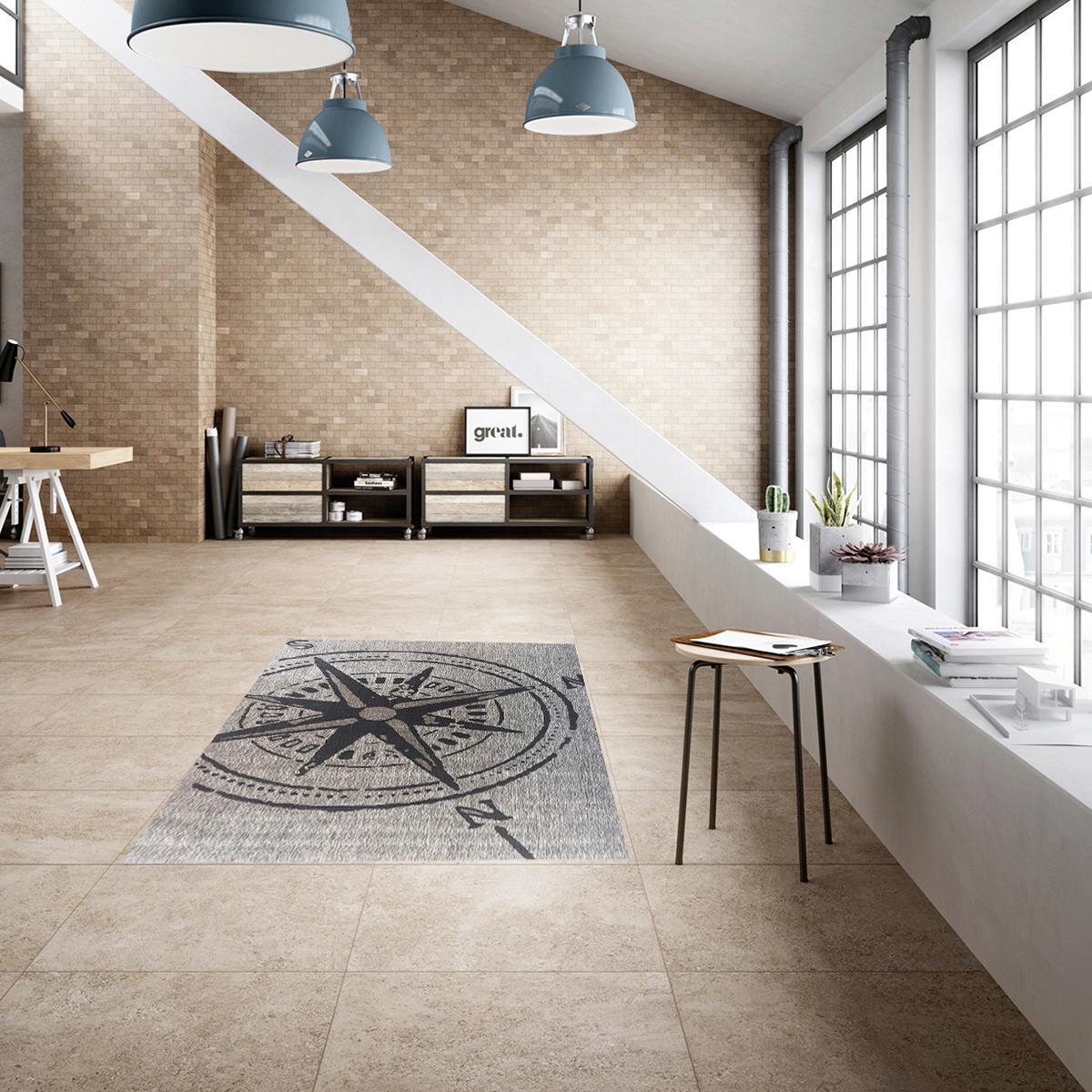 Tappeto Bussola , grigio, 160x230 - 2