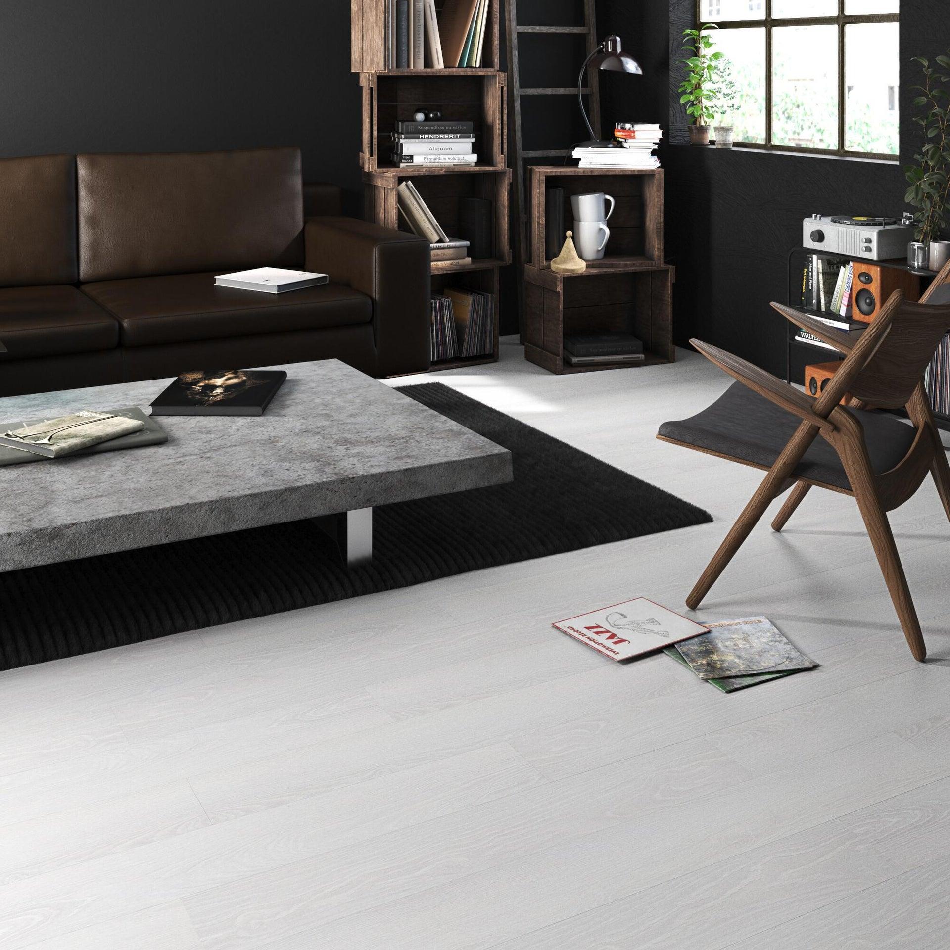 Pavimento PVC flottante clic+ Pure Sp 4.2 mm bianco - 3