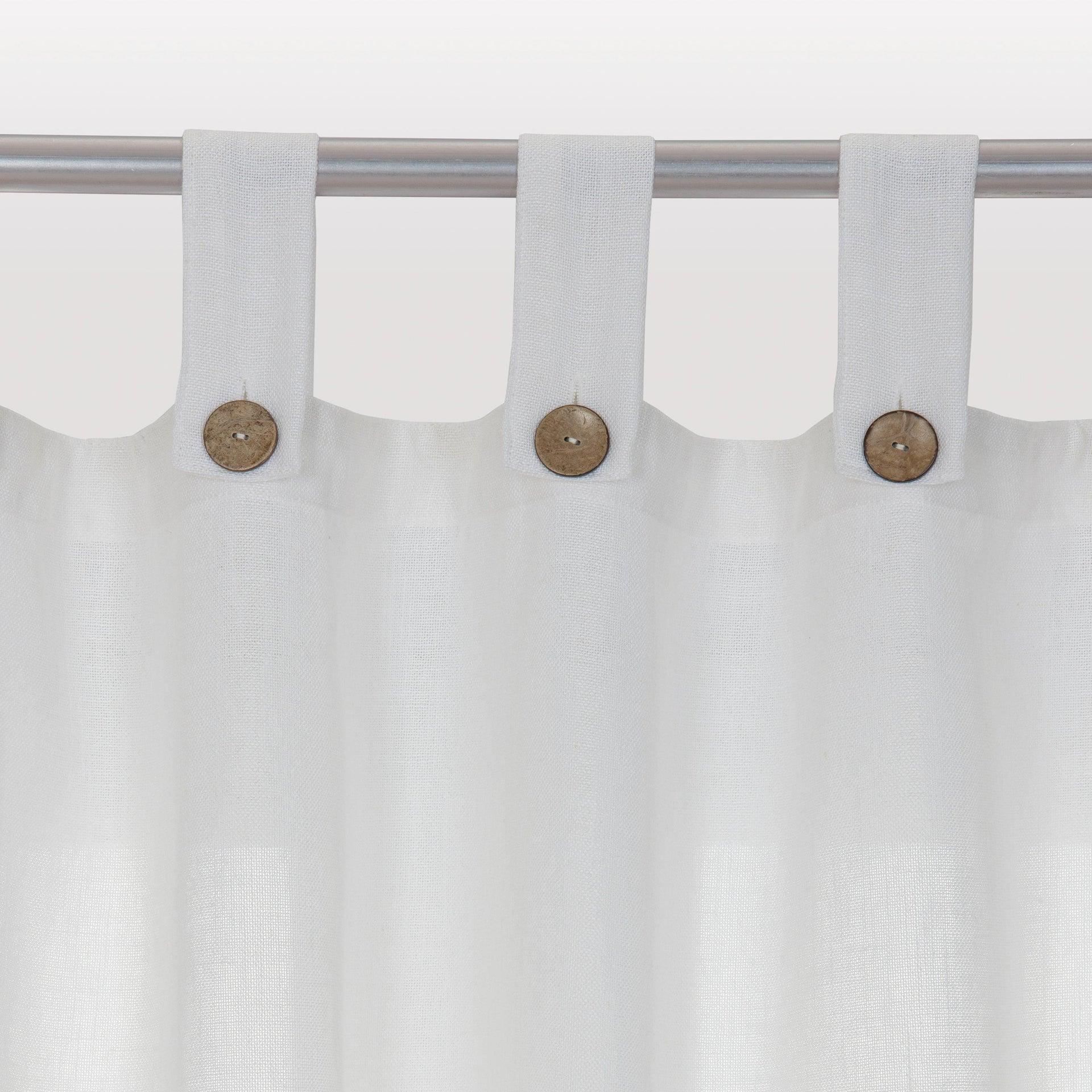 Tenda INSPIRE Charlina bianco passanti 140 x 280 cm - 7