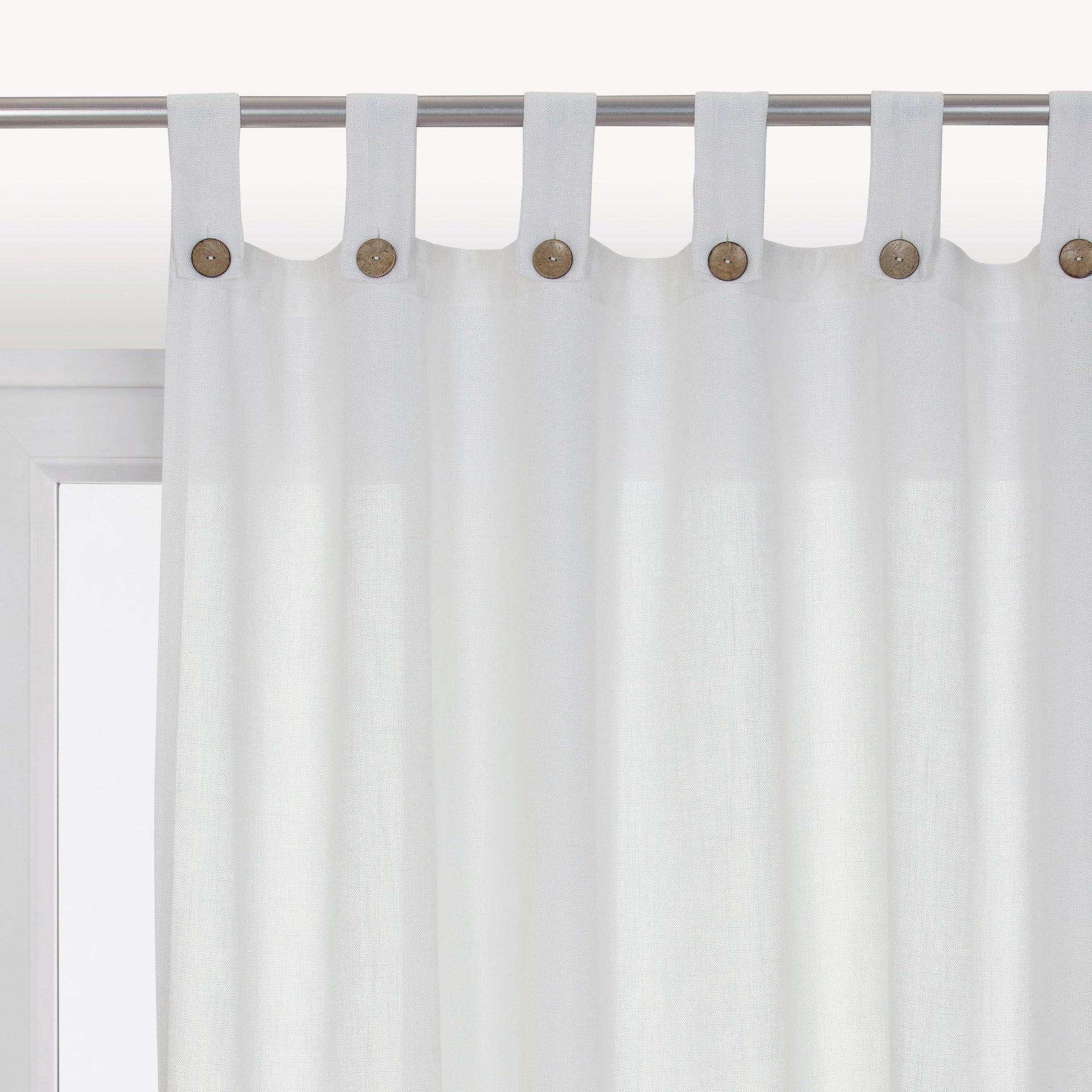 Tenda INSPIRE Charlina bianco passanti 140 x 280 cm - 1