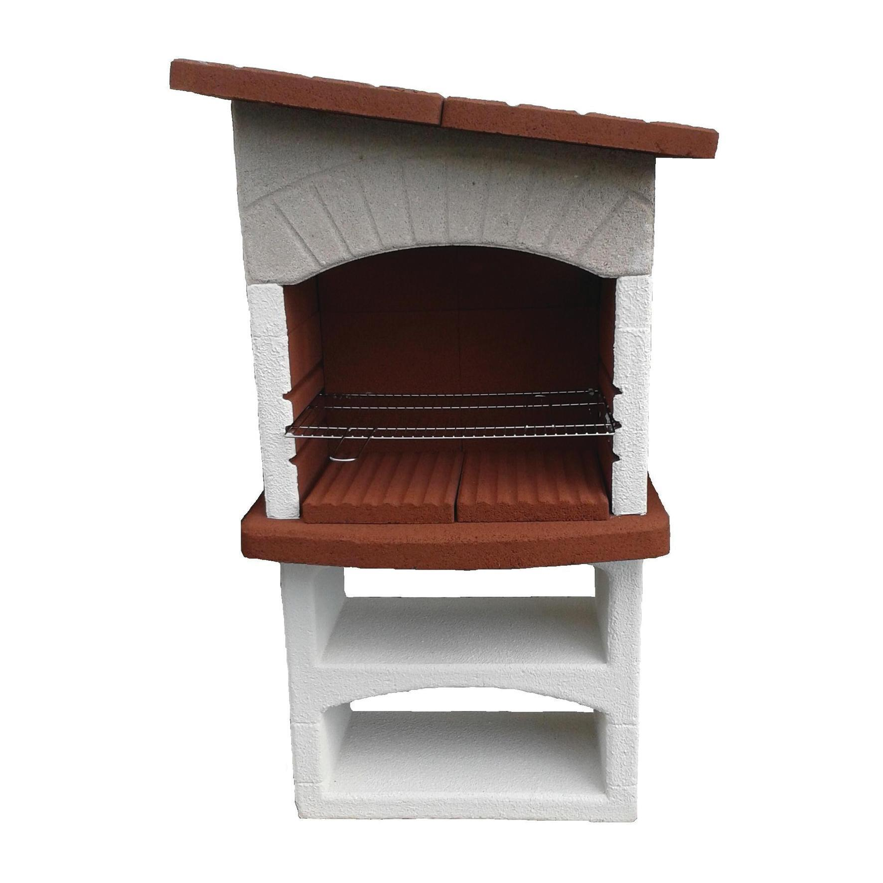 Barbecue in cemento refrattario LINEA VZ Caorle con cappa L 58 x P 58 x H 165 cm - 2