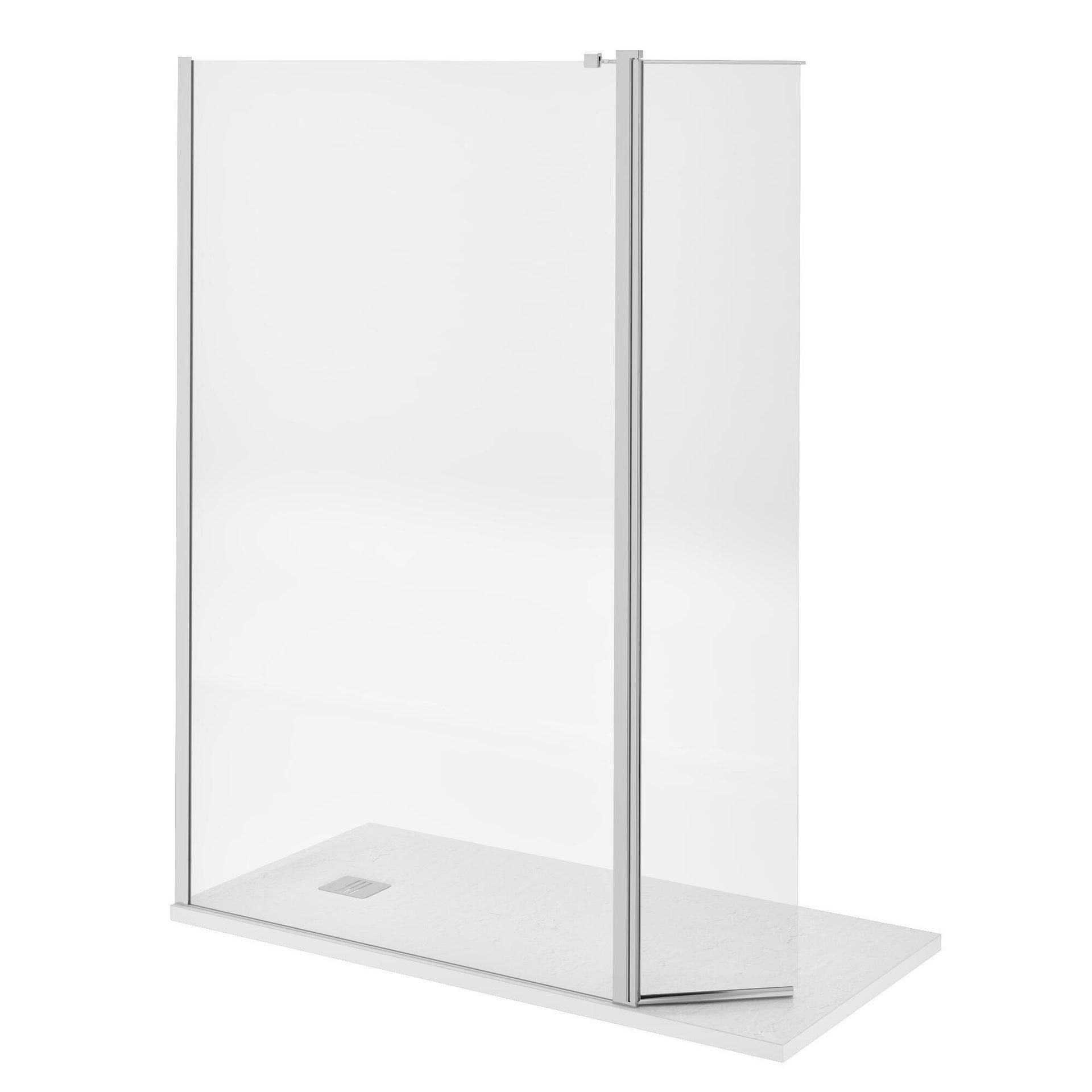 Doccia walk in L 120, H 200 cm, vetro 8 mm trasparente cromato - 17