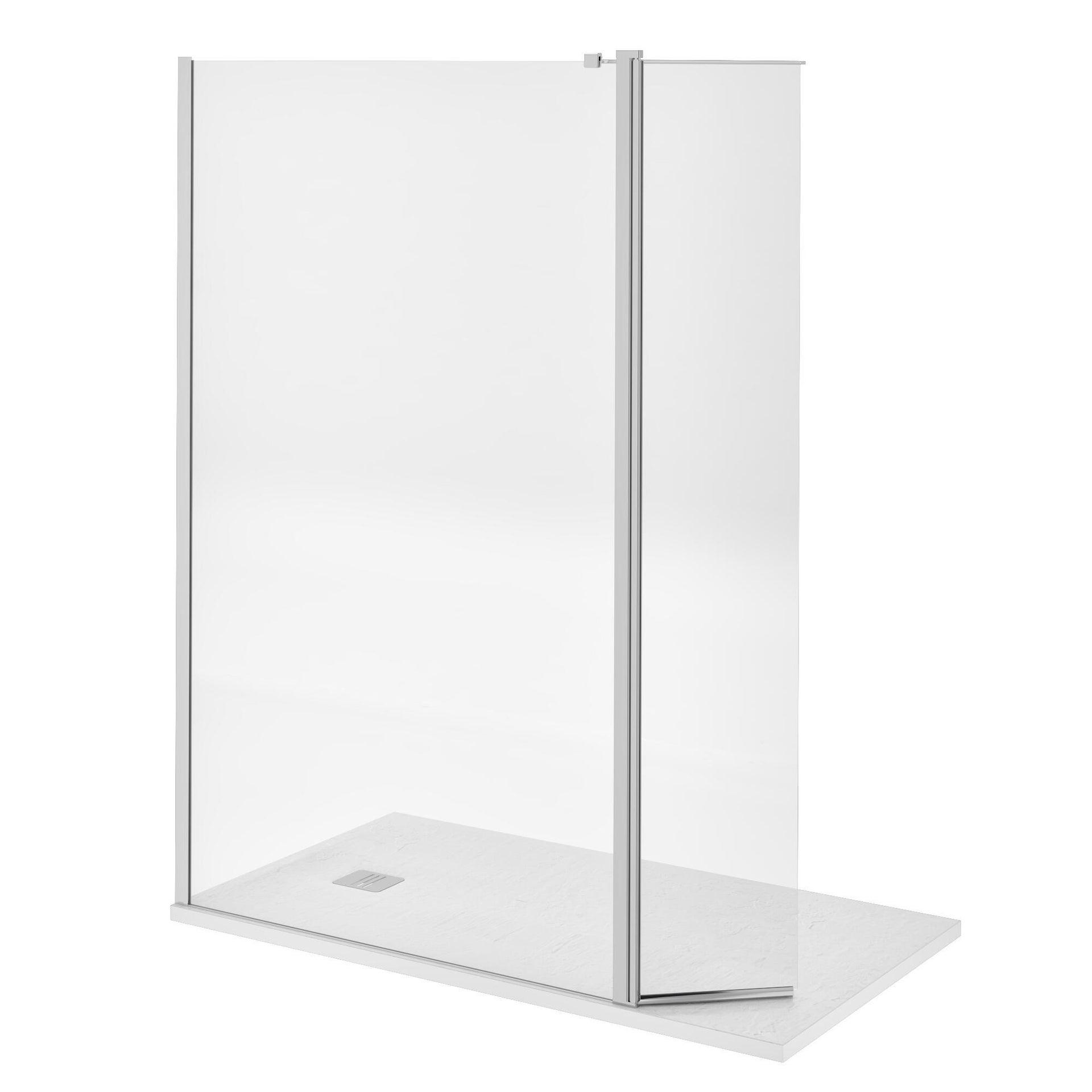 Doccia walk in L 120, H 200 cm, vetro 8 mm trasparente cromato - 14