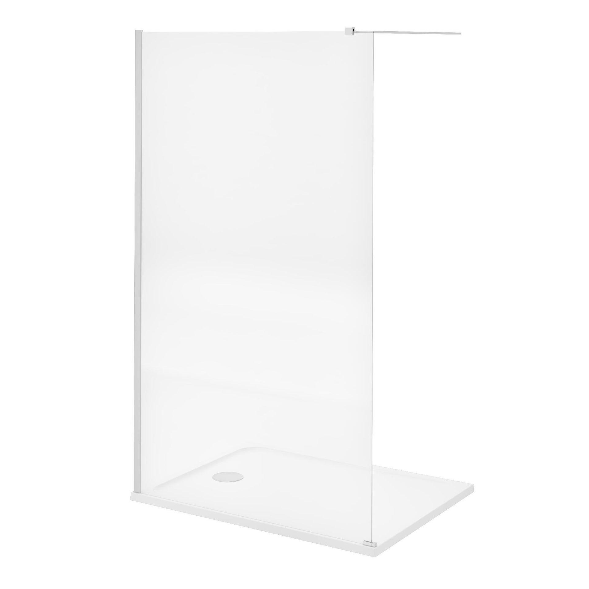 Doccia walk in L 120, H 200 cm, vetro 8 mm trasparente cromato - 10