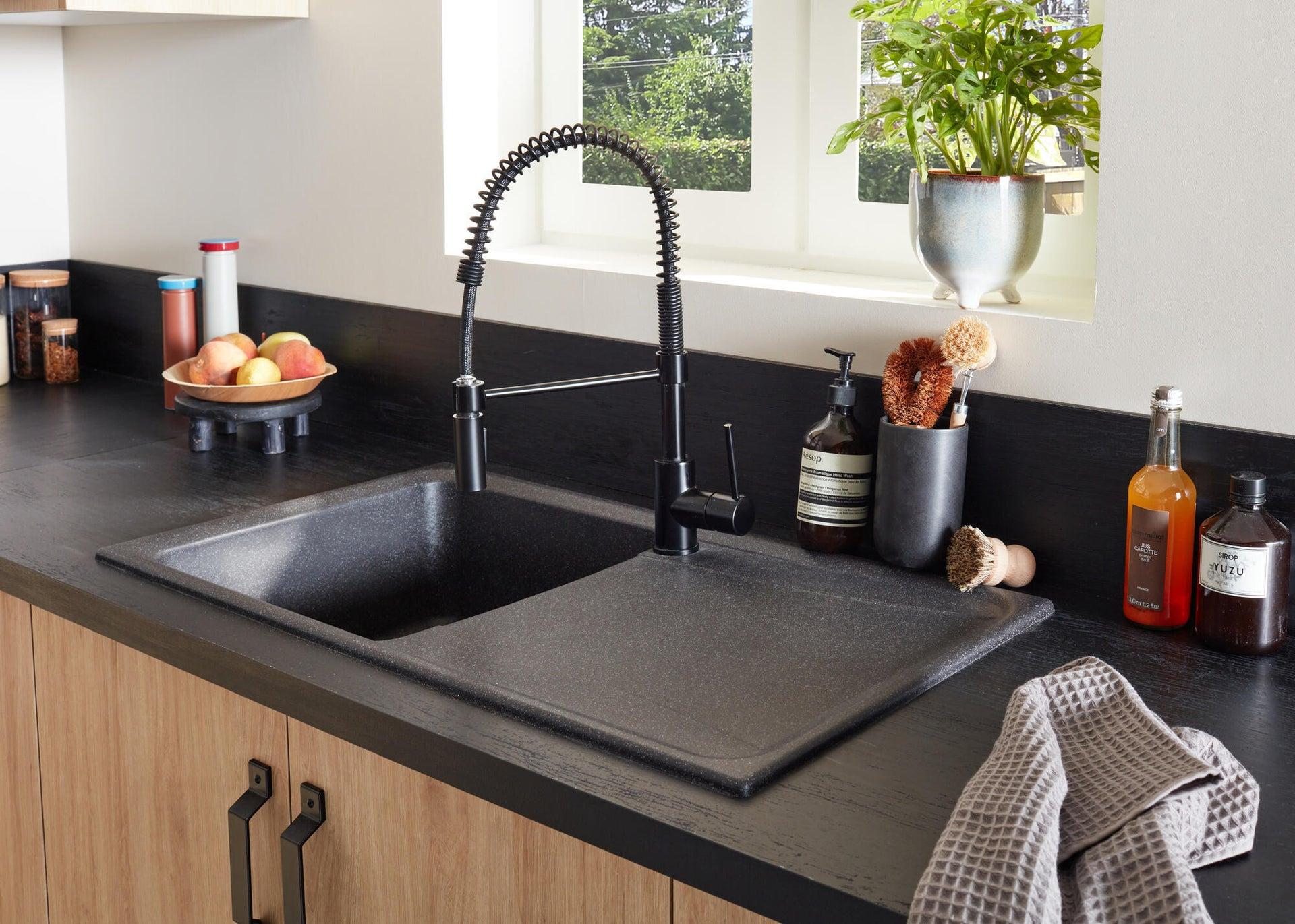 Miscelatore da cucina Thomas verniciato nero, DELINIA - 8