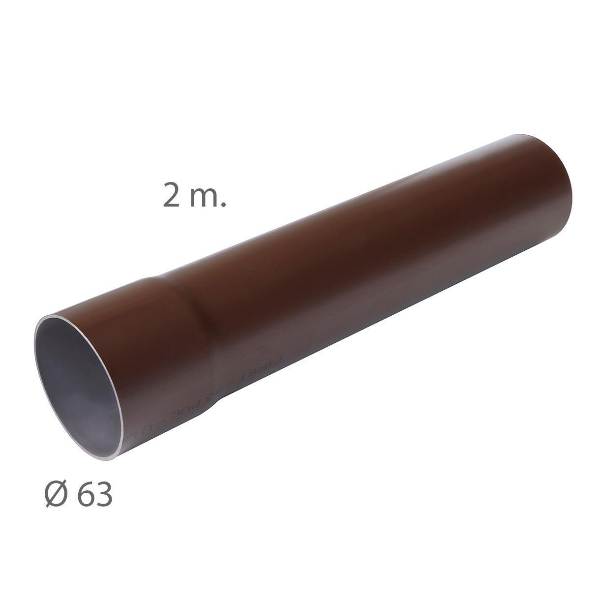 Tubo pluviale marrone L 2 m, Ø 63 mm - 3