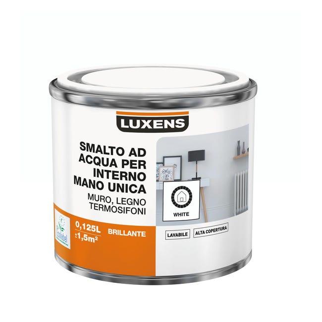 Vernice di finitura LUXENS Manounica base acqua bianco lucido 0.125 L - 1