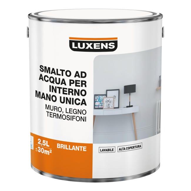 Vernice di finitura LUXENS Manounica base acqua bianco lucido 2.5 L - 1