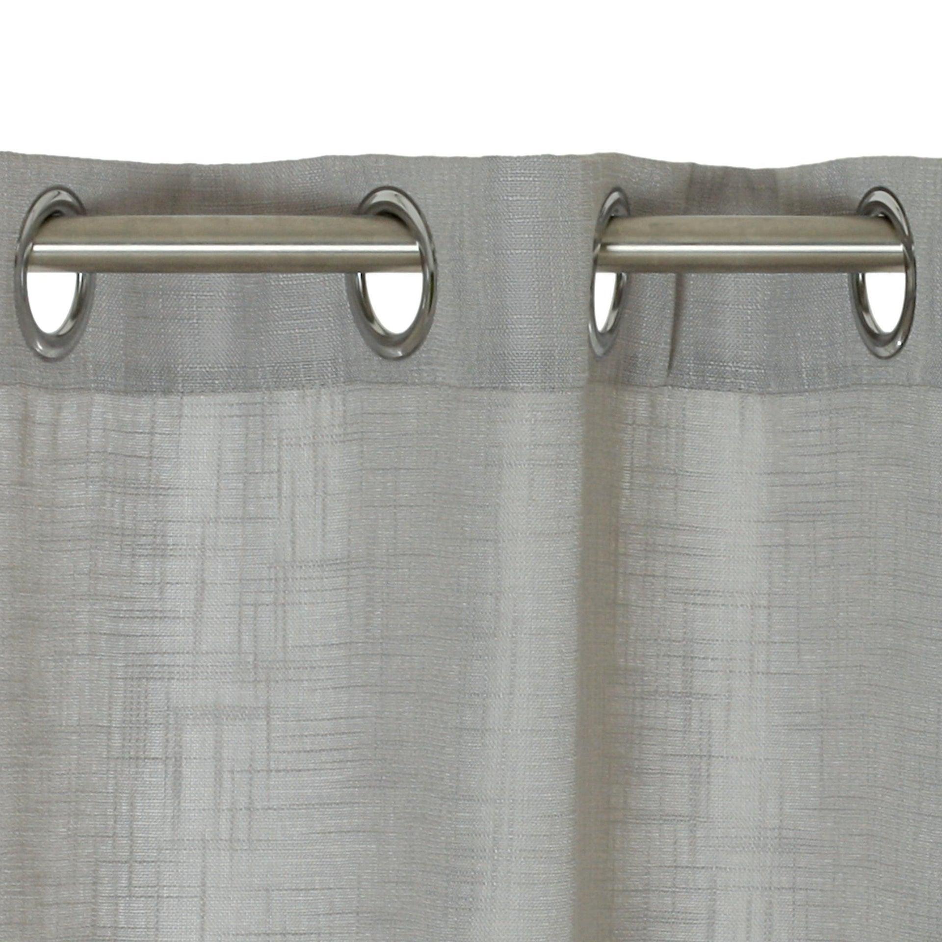 Tenda Infini grigio occhielli 140 x 280 cm - 4