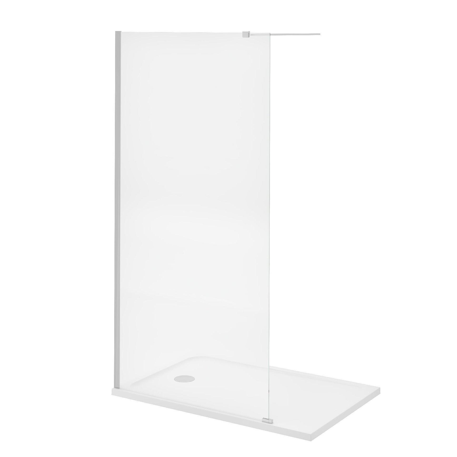 Piatto doccia resina sintetica e polvere di marmo Easy 80 x 120 cm bianco - 21