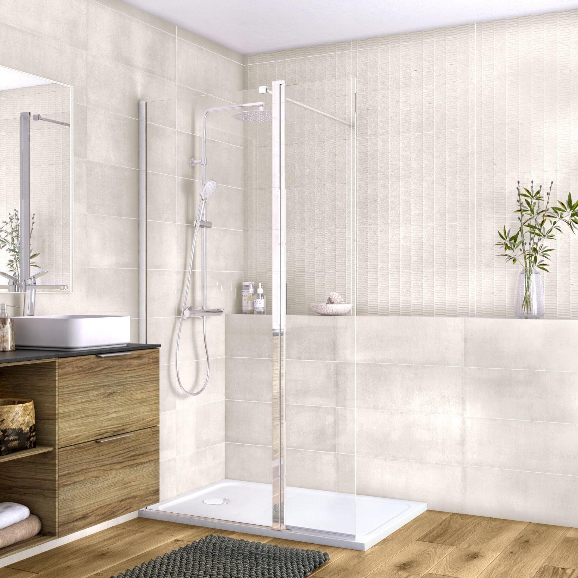 Piatto doccia resina sintetica e polvere di marmo Easy 80 x 120 cm bianco - 14