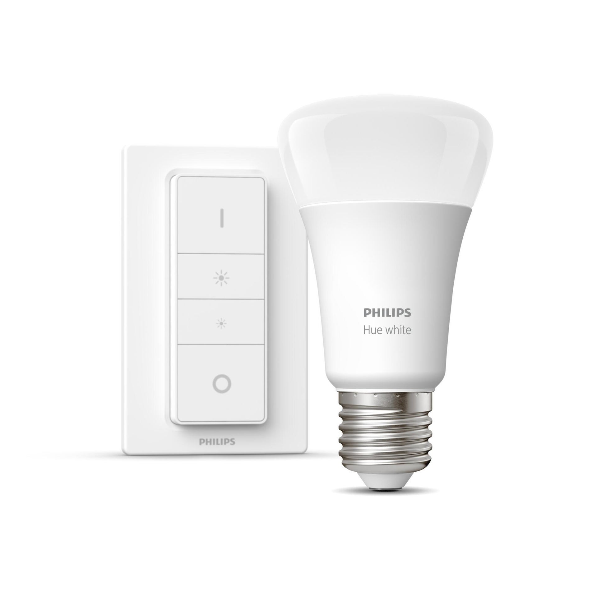 Lampadina collegato LED, HUE WHITE BLUETOOTH + TELECOMANDO, E27, Goccia, Opaco, Luce calda, 9W=806LM (equiv 60 W), 150° , PHILIPS HUE - 10