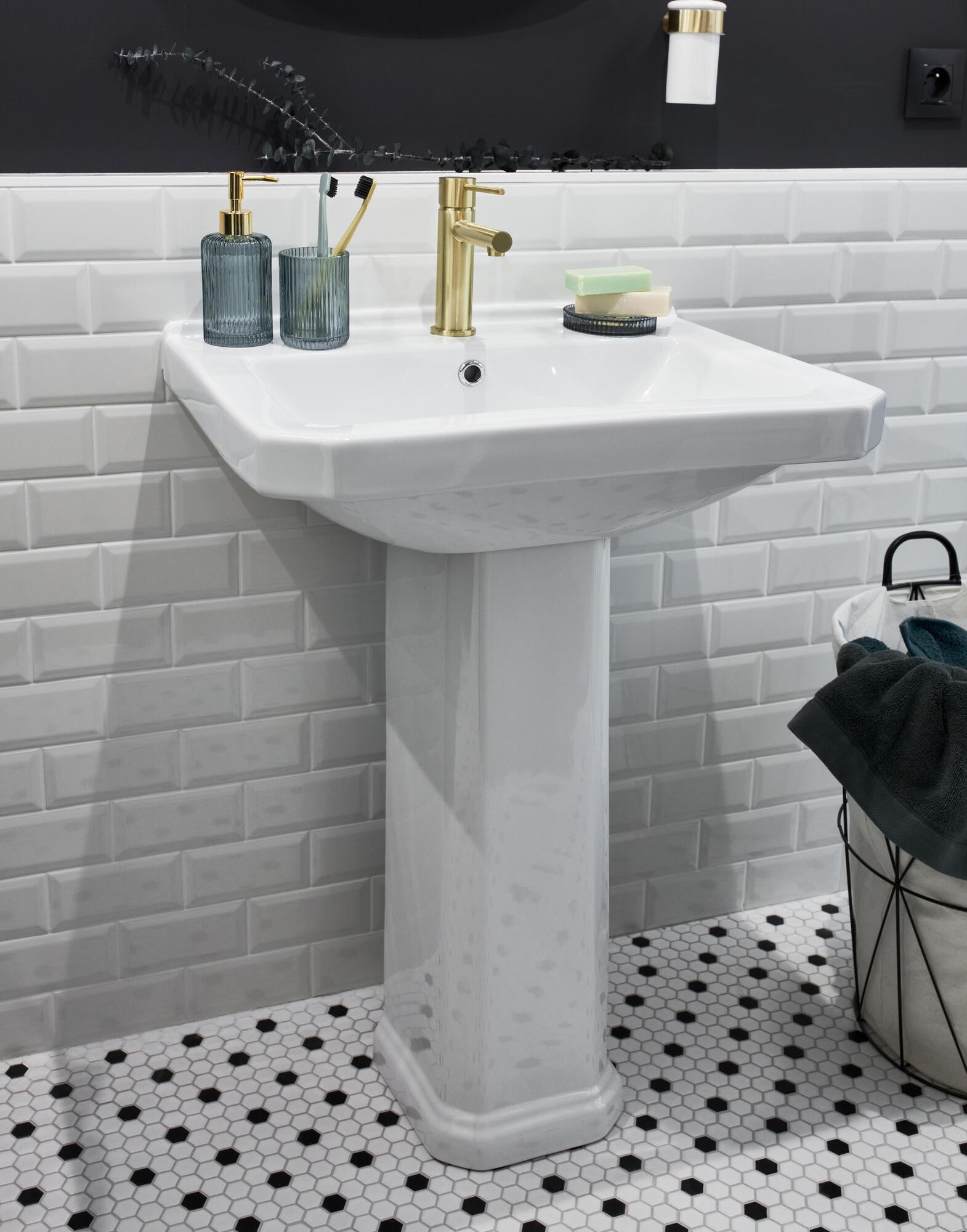 Lavabo quadrato L 43 x P 39.5 cm in ceramica bianco - 2