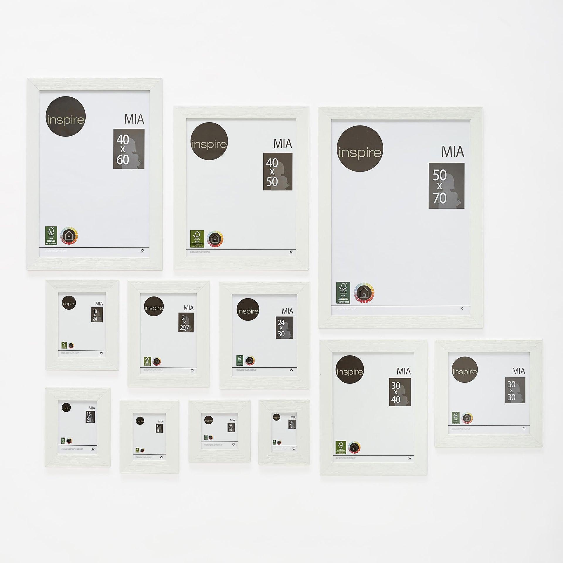Cornice INSPIRE Mia bianco per foto da 50x70 cm - 3