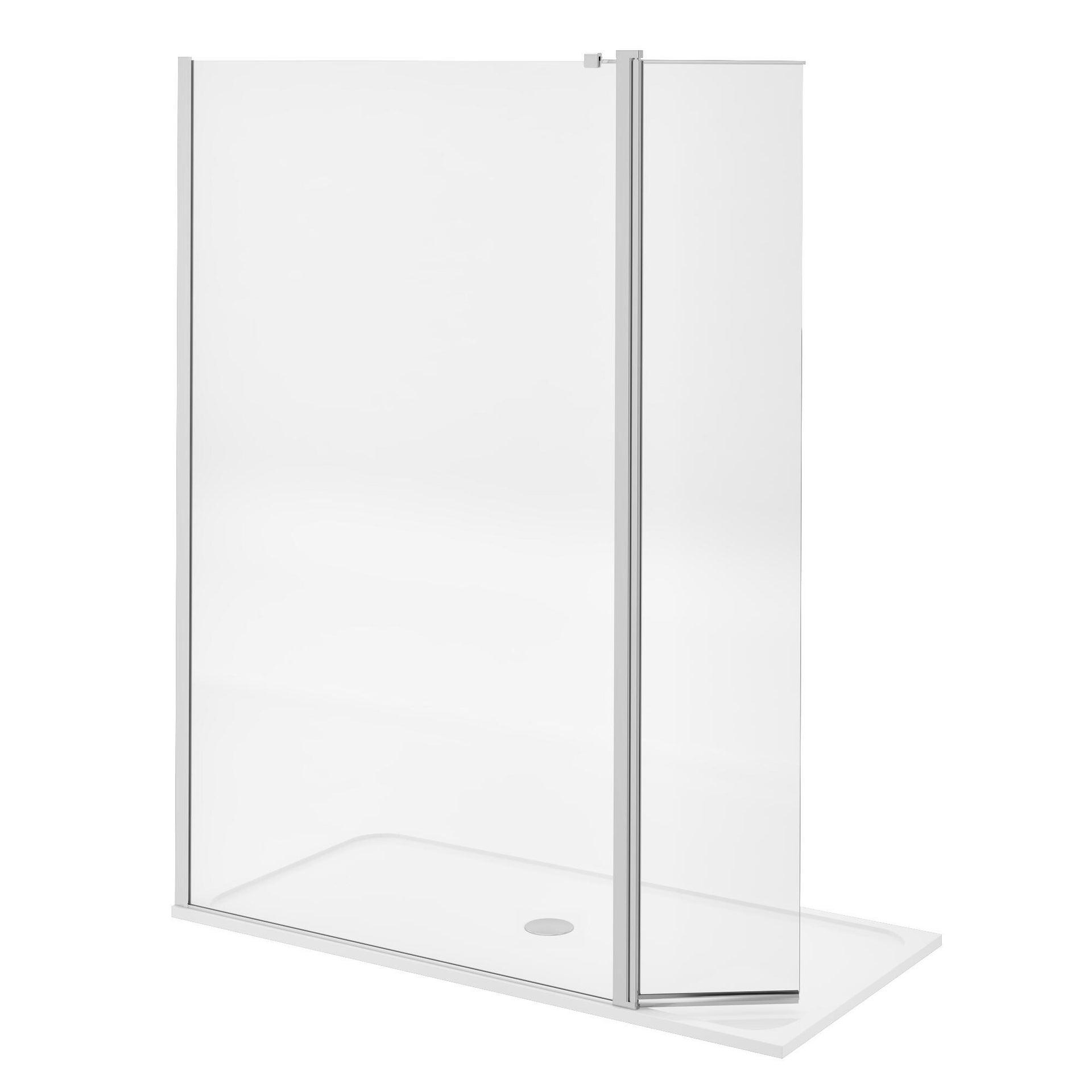 Doccia walk in L 120, H 200 cm, vetro 8 mm trasparente cromato - 16