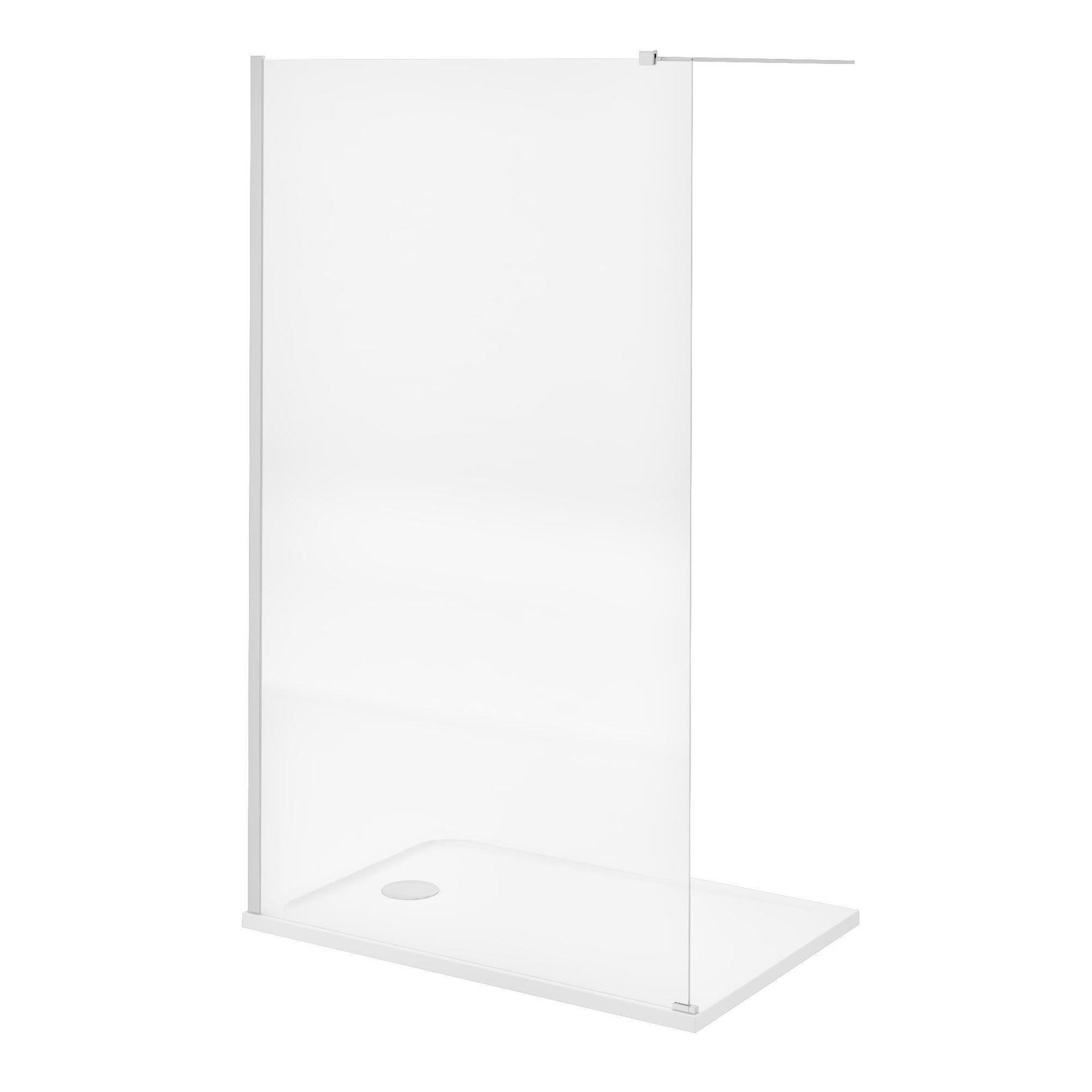 Piatto doccia resina sintetica e polvere di marmo Easy 80 x 120 cm bianco - 11