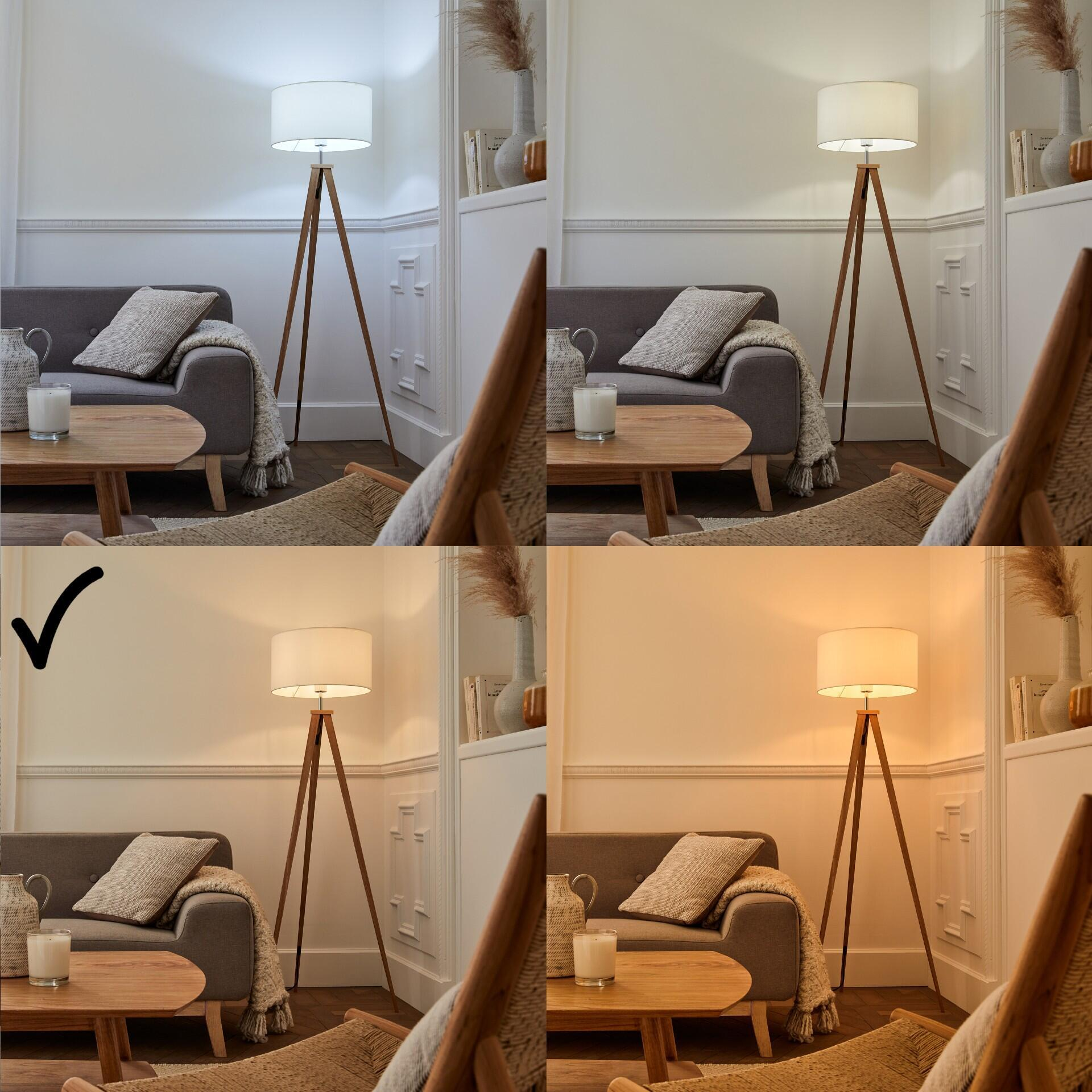 Set di 3 lampadine LED, HUE WHITE BLUETOOTH + BRIDGE + DIMMER, E27, Goccia, Opaco, Luce calda, 9W=806LM (equiv 60 W), 150° , PHILIPS HUE - 4