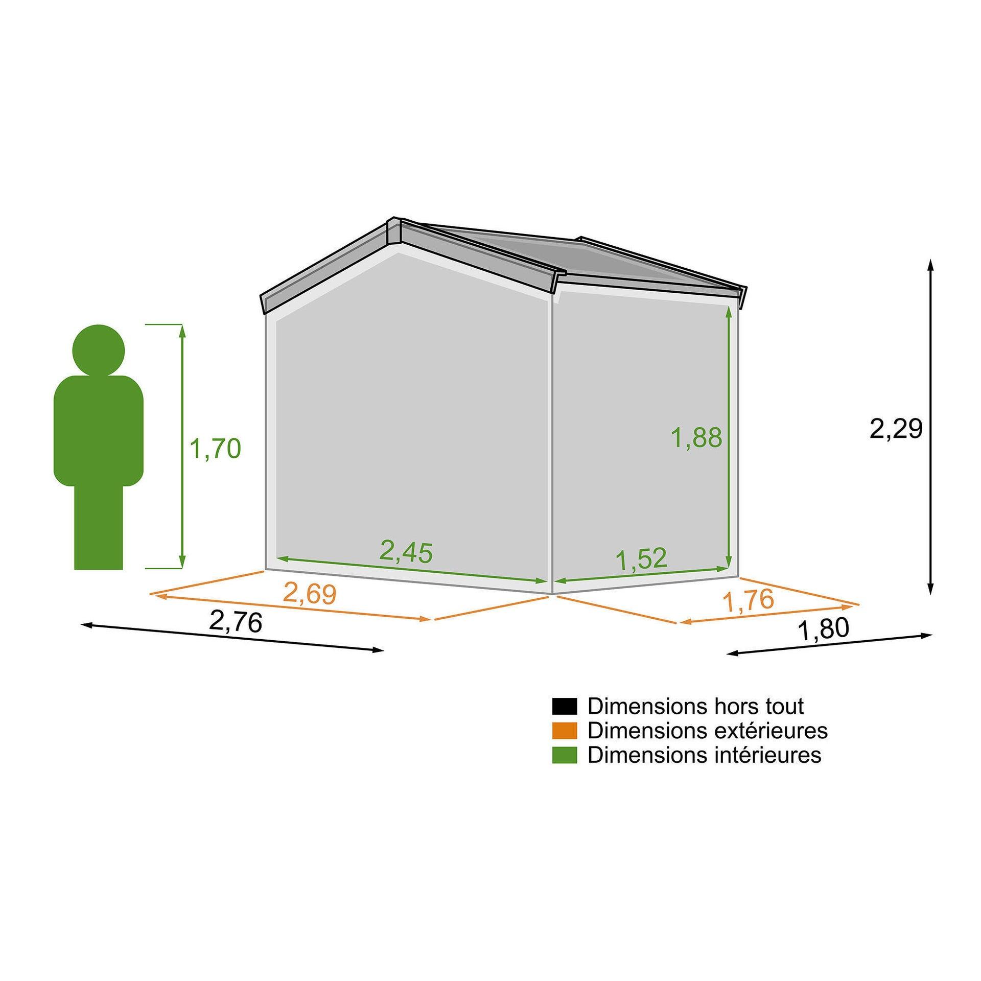 Casetta da giardino in legno Narciso, superficie totale 4.98 m² e spessore parete 19 mm - 3