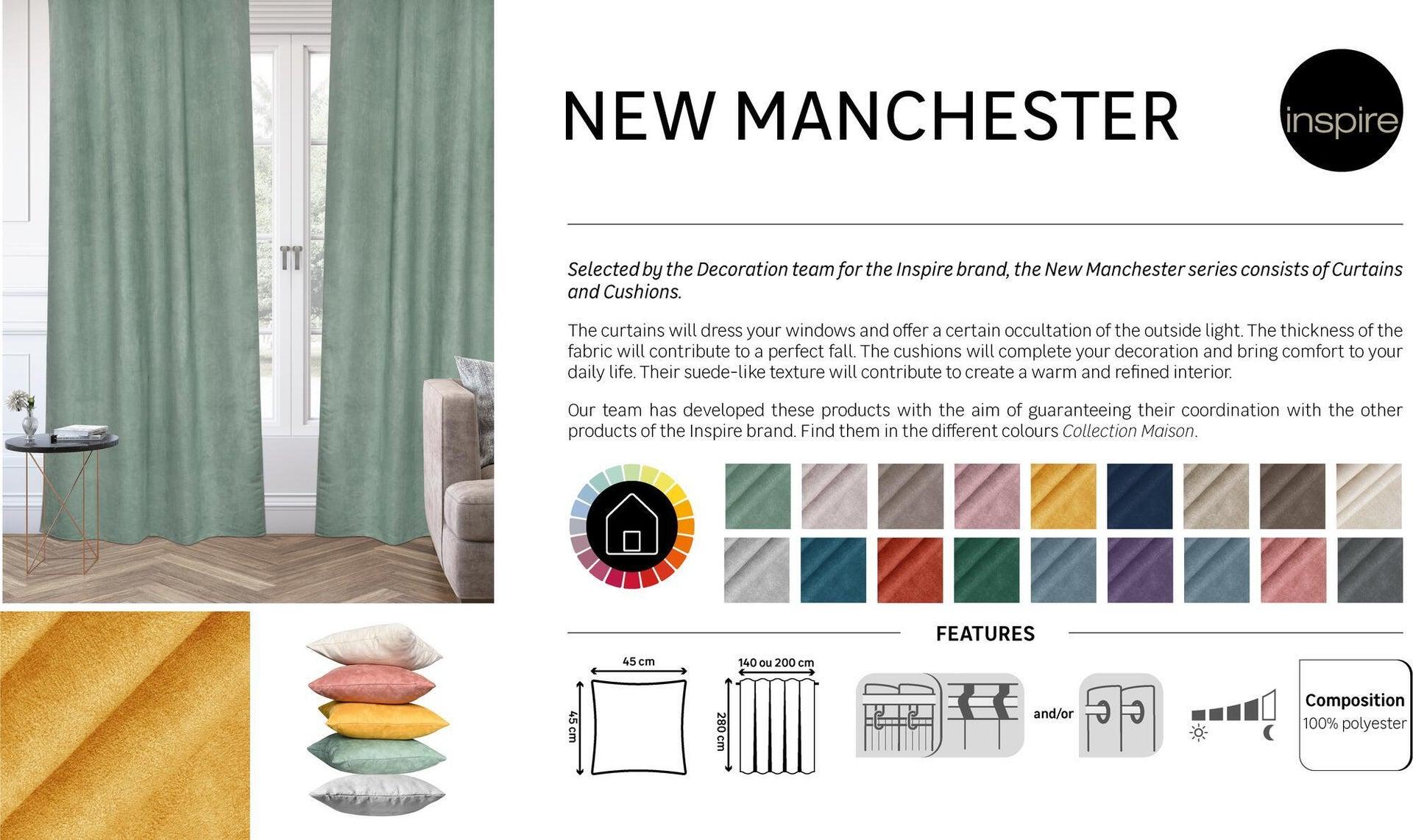 Tenda INSPIRE New Manchester verde occhielli 140 x 280 cm - 7