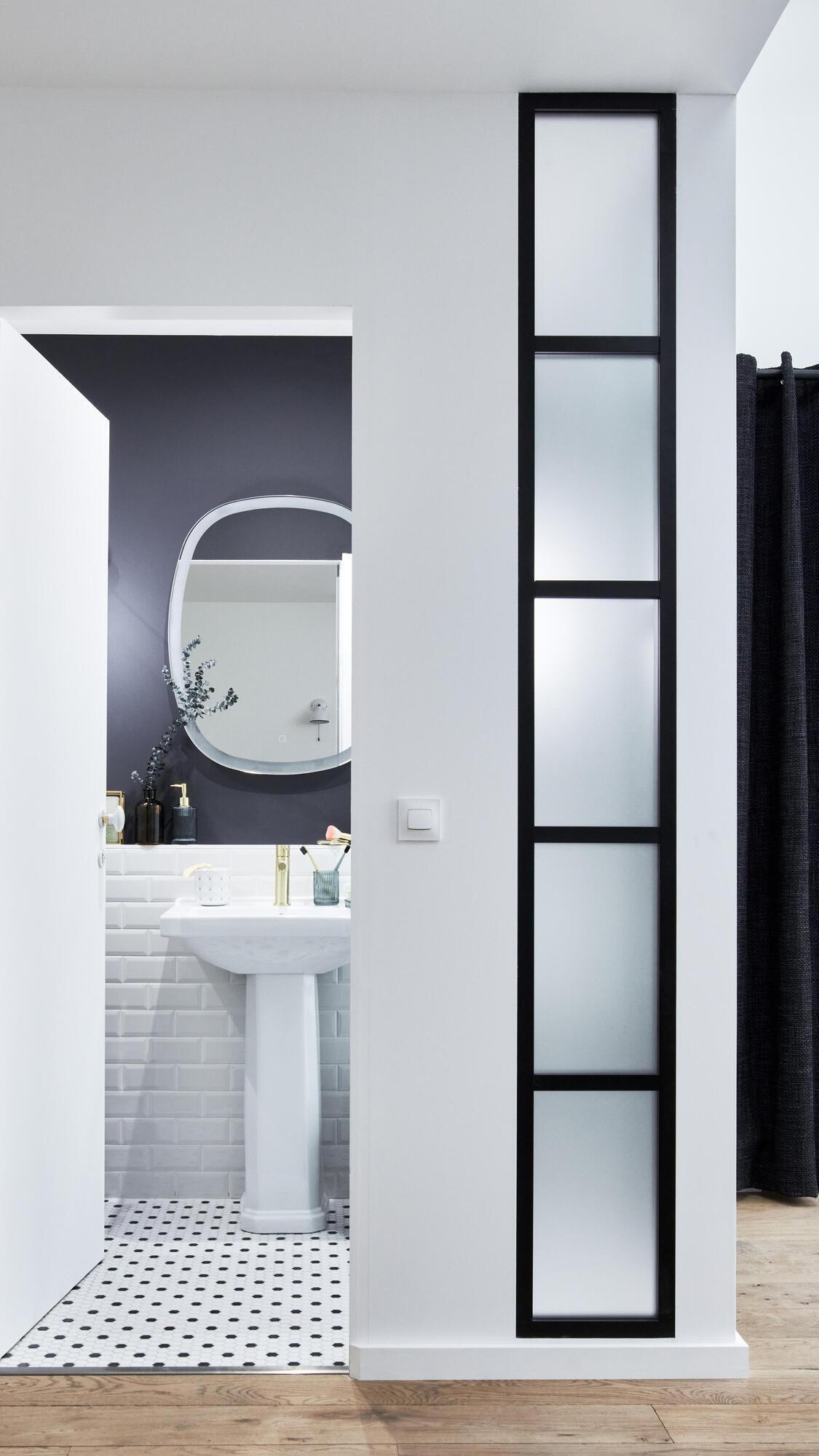 Lavabo quadrato L 43 x P 39.5 cm in ceramica bianco - 6