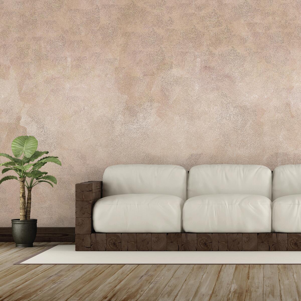 Pittura decorativa effetto sabbiato marrone talpa 5 2 l GECKOS - 4