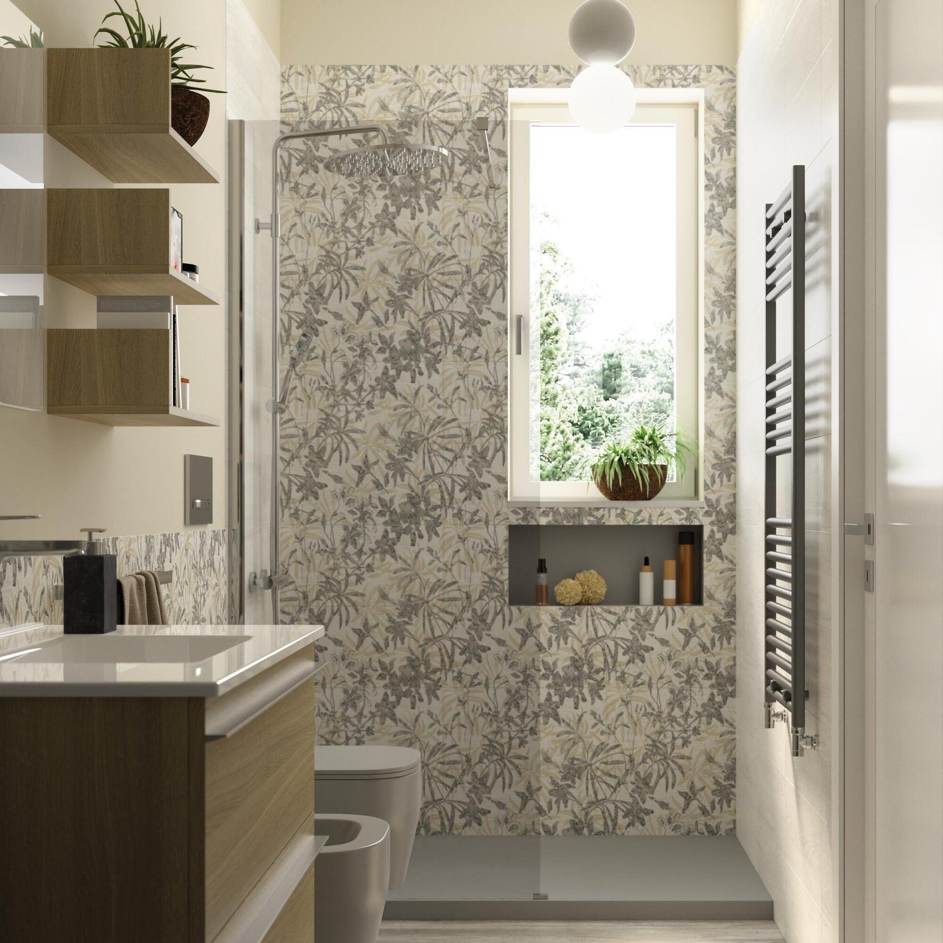 Piatto doccia ultrasottile resina sintetica e polvere di marmo Remix 80 x 140 cm grigio - 3