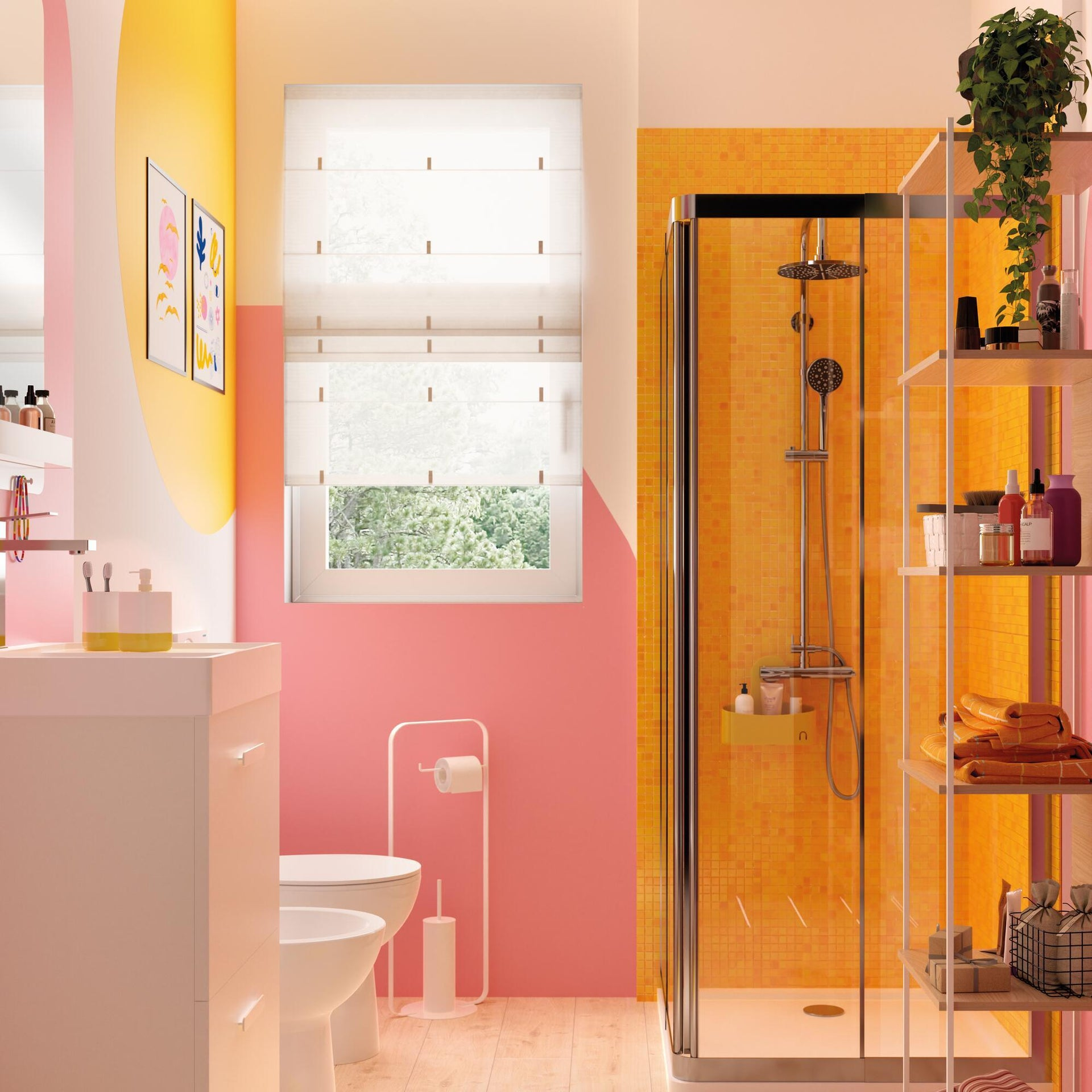 Piatto doccia resina sintetica e polvere di marmo Easy 80 x 80 cm bianco - 5