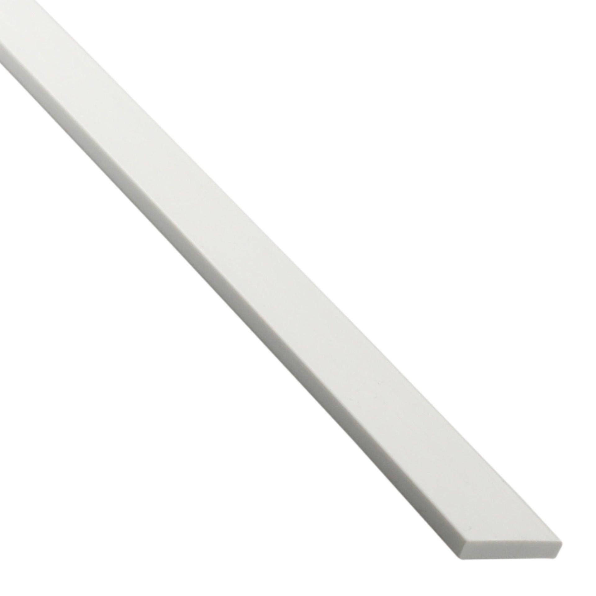 Profilo piatto STANDERS in pvc 2.6 m x 4 cm bianco - 2